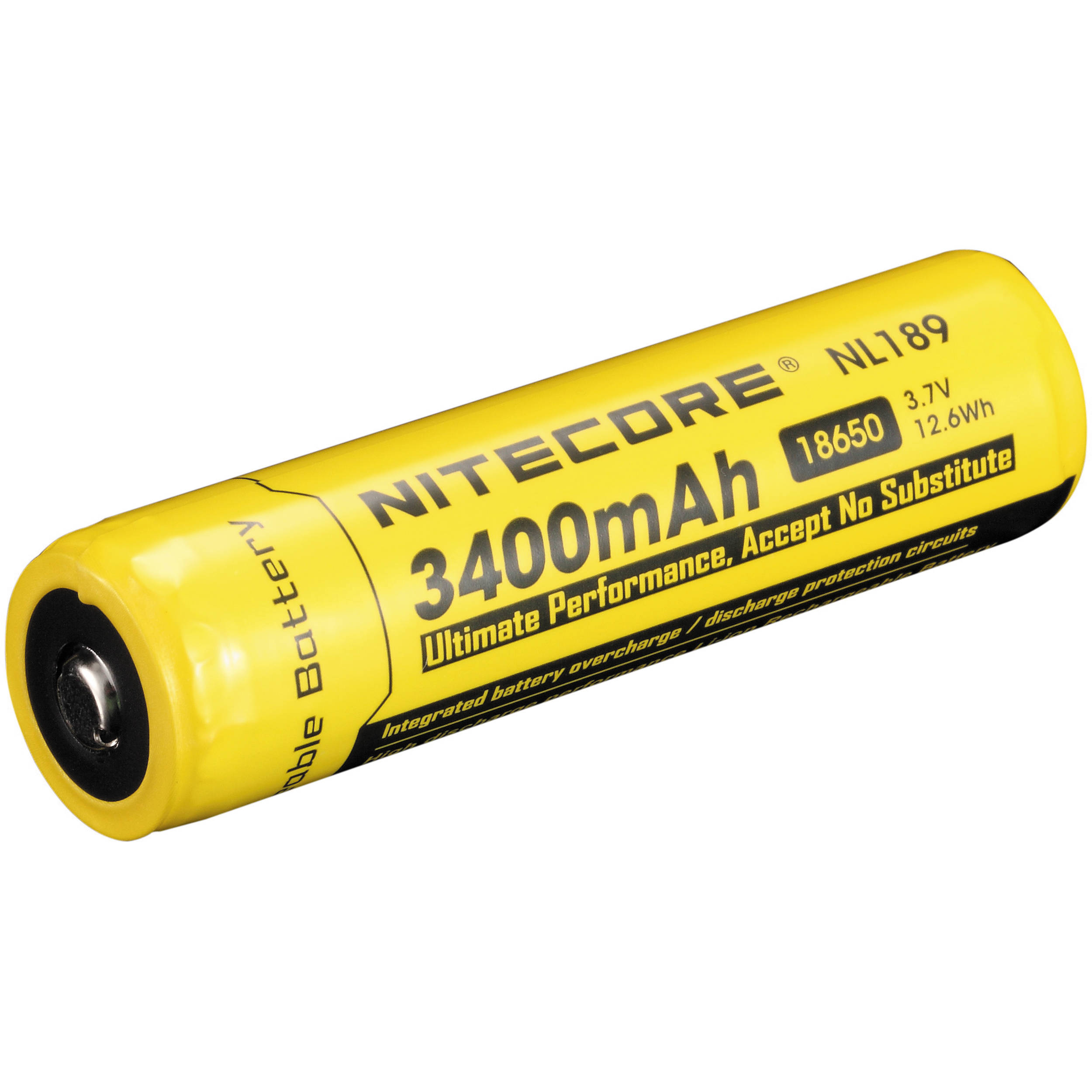 nitecore 18650 li ion rechargeable battery 3 7v 3400mah nl189. Black Bedroom Furniture Sets. Home Design Ideas