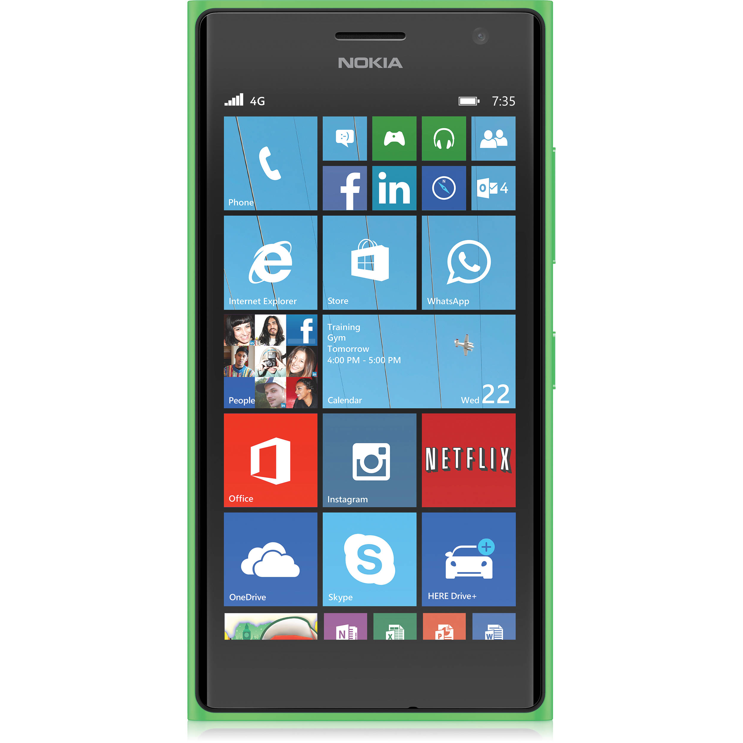 Nokia Lumia 735 RM-1039 8GB Smartphone (Unlocked, Bright Green)