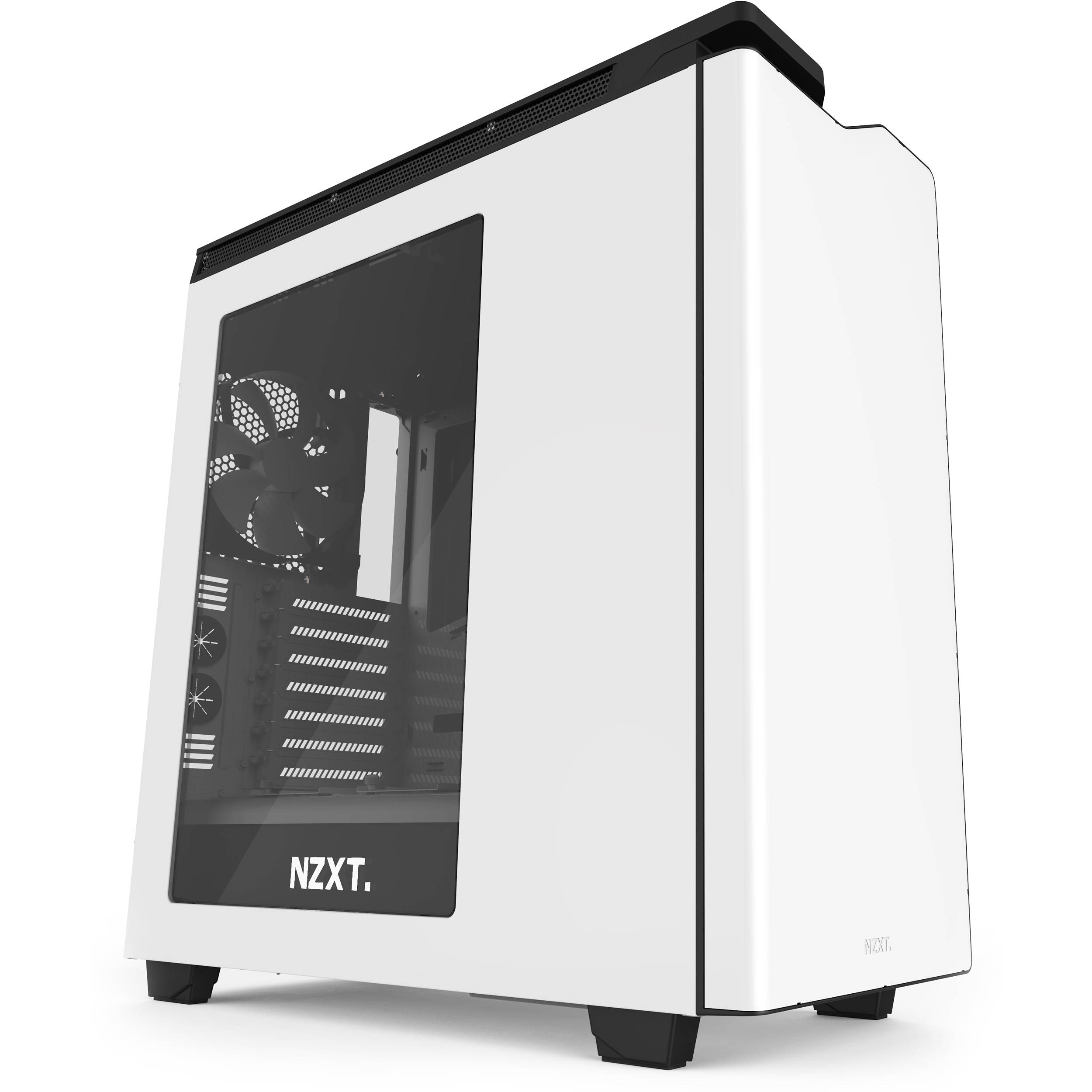 NZXT H440 Mid-Tower 2015 Case CA-H442W-W1 B&H Photo Video