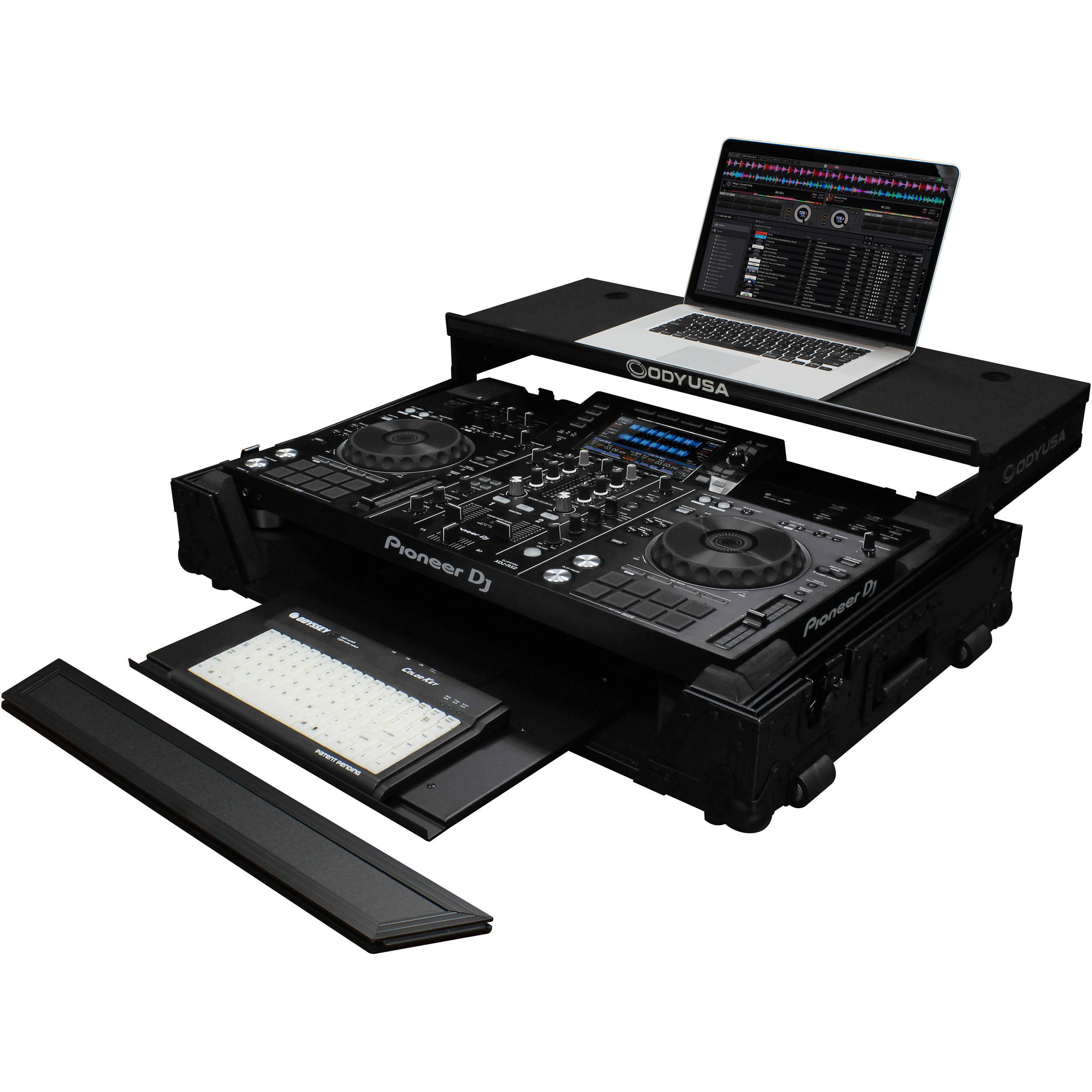 Odyssey Innovative Designs Black Label Glide Fzgsxdjrx2gtwbl Bh Gt Enclosures Panels Boards Electrical Boxes Style Case For Pioneer Xdj Rx2 Controller With Bottom