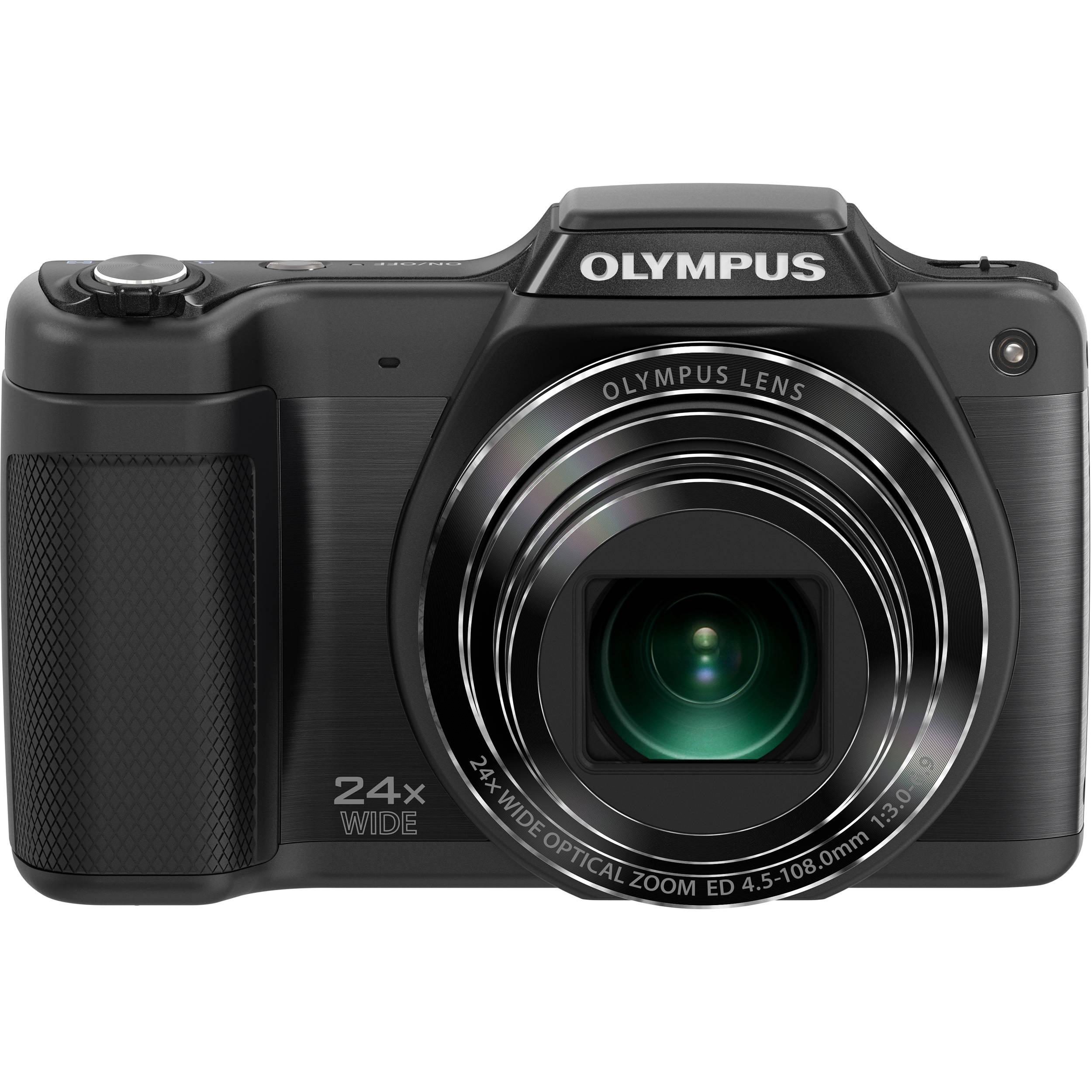 Olympus Digital Camera: Olympus SZ-15 Digital Camera (Black) V102110BU000 B&H Photo