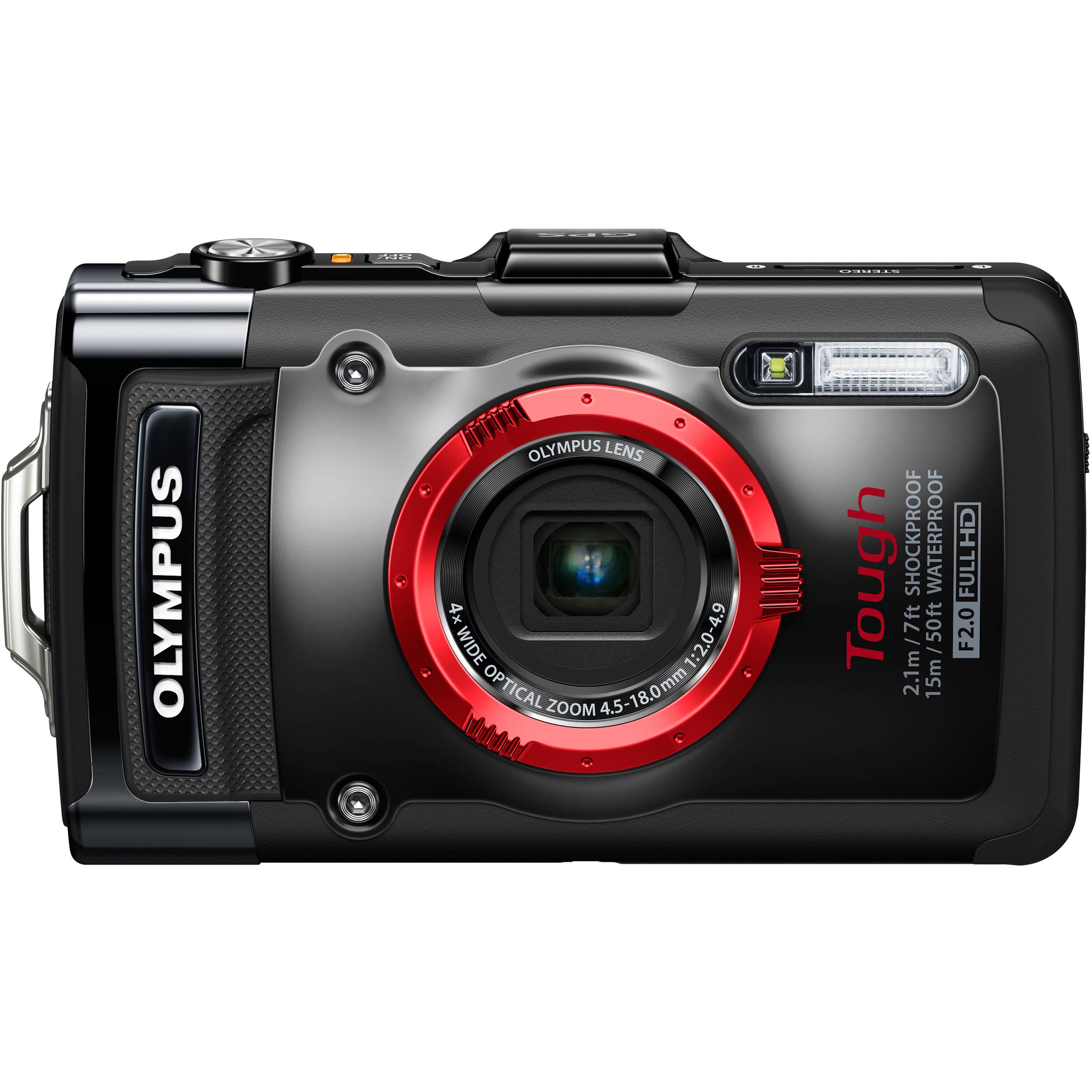 Olympus Digital Camera: Olympus Tough TG-2 IHS Digital Camera (Black) V104120BU000 B&H