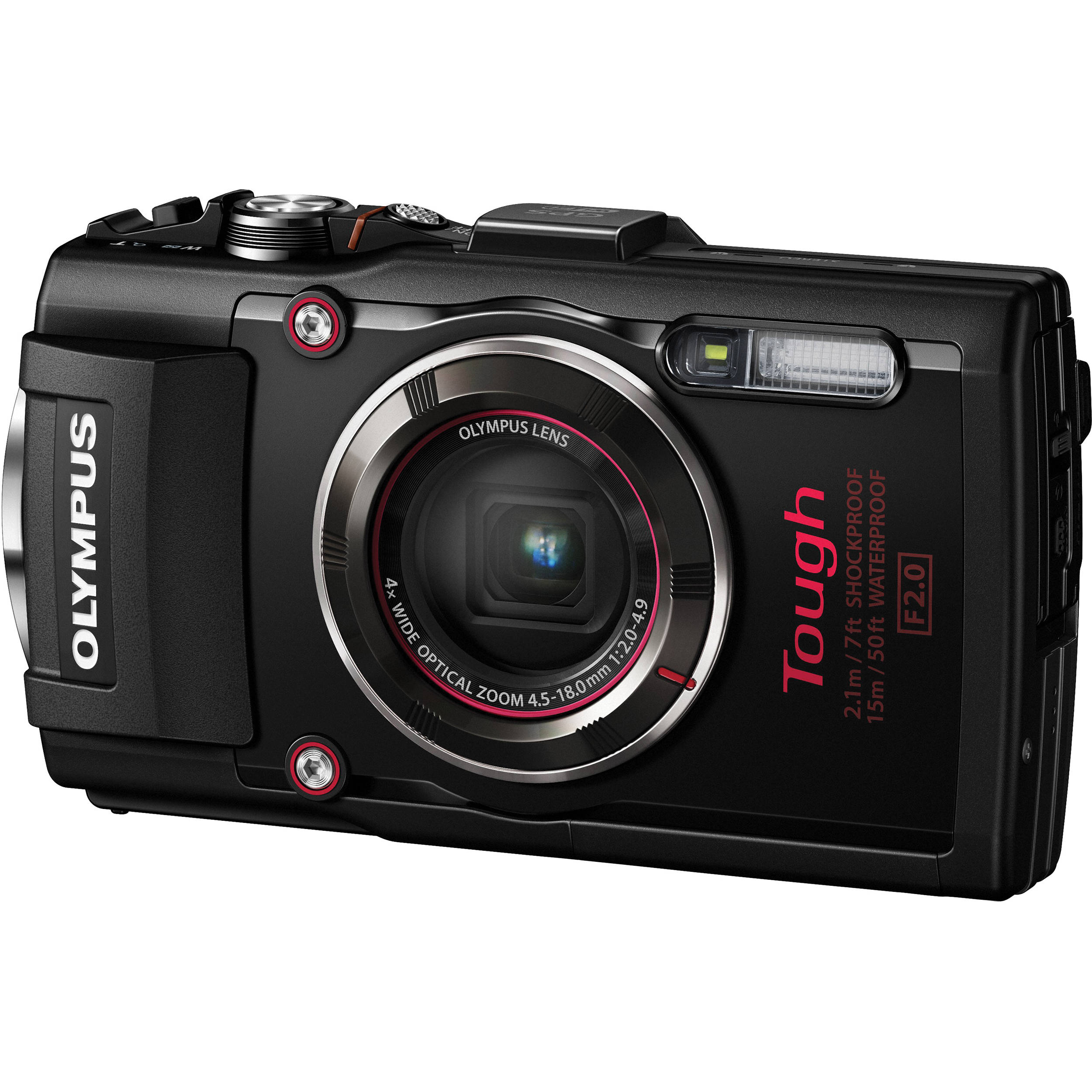 Olympus Digital Camera: Olympus Stylus TOUGH TG-4 Digital Camera (Black) V104160BU000