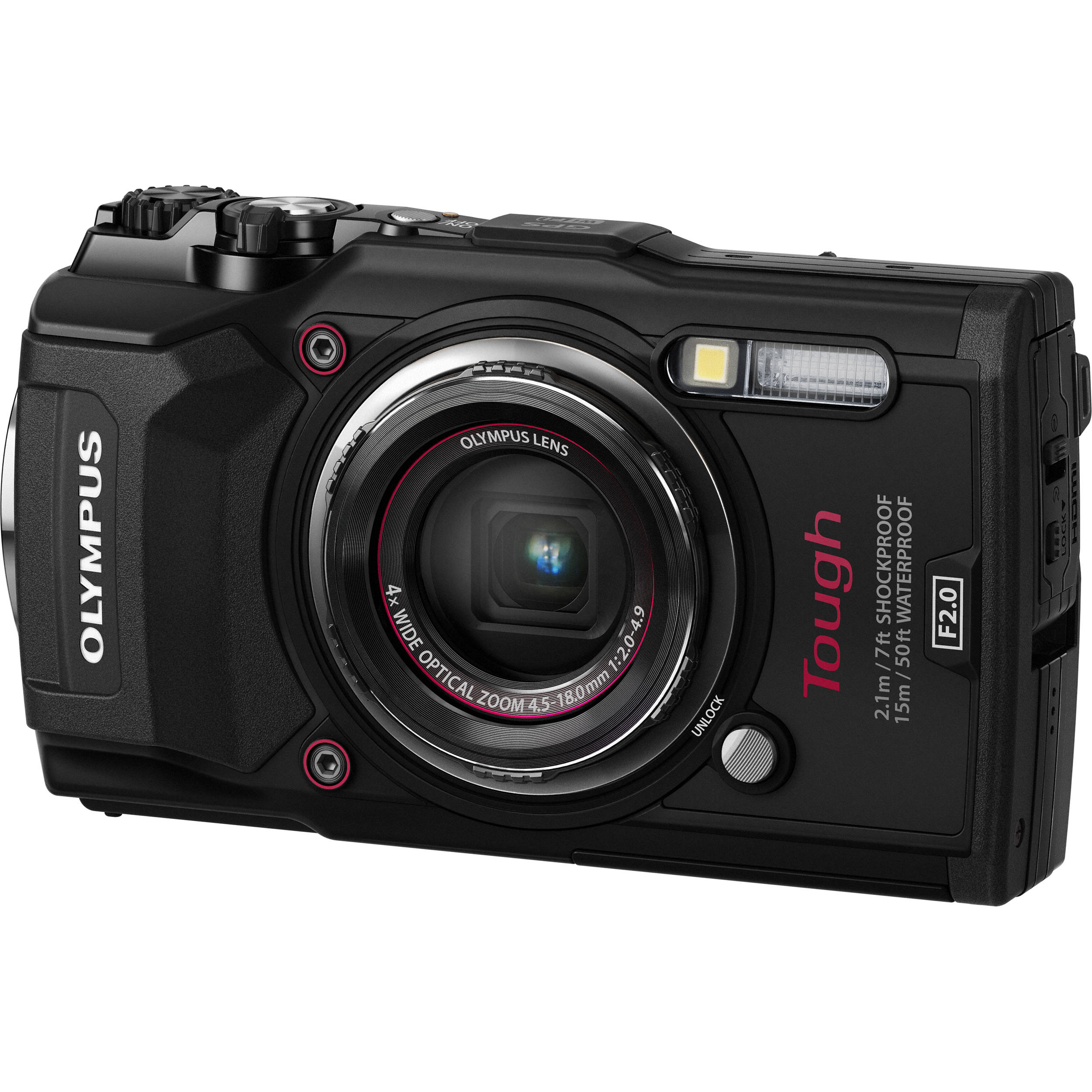 Olympus TG5 Digital Camera (Olympus TG-5 Camera Black) B&H