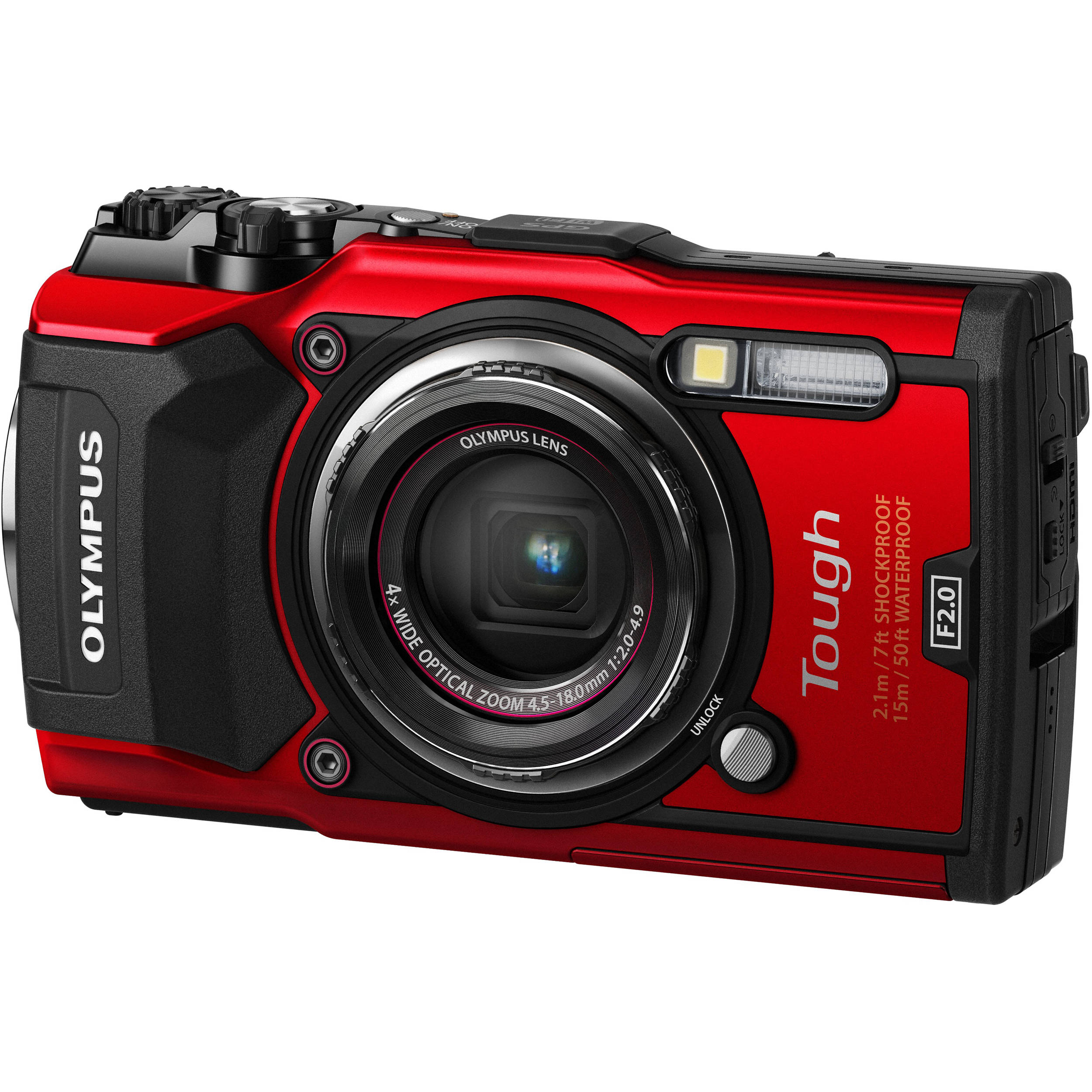 Olympus Digital Camera 5 Olympus Tough TG-5 Digital Camera (Red)