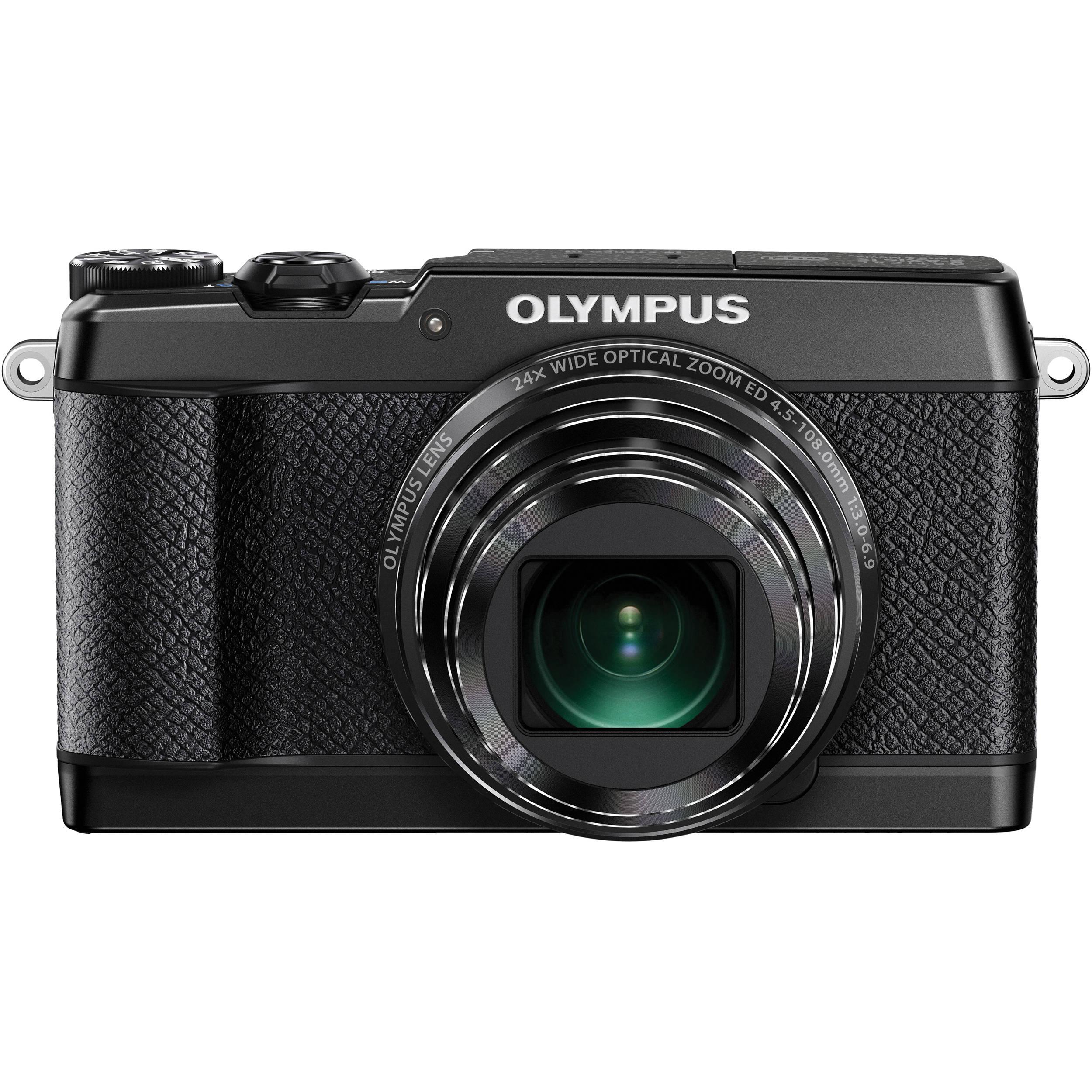 Olympus Digital Camera: Olympus Stylus SH-2 Digital Camera (Black) V107090BU000 B&H