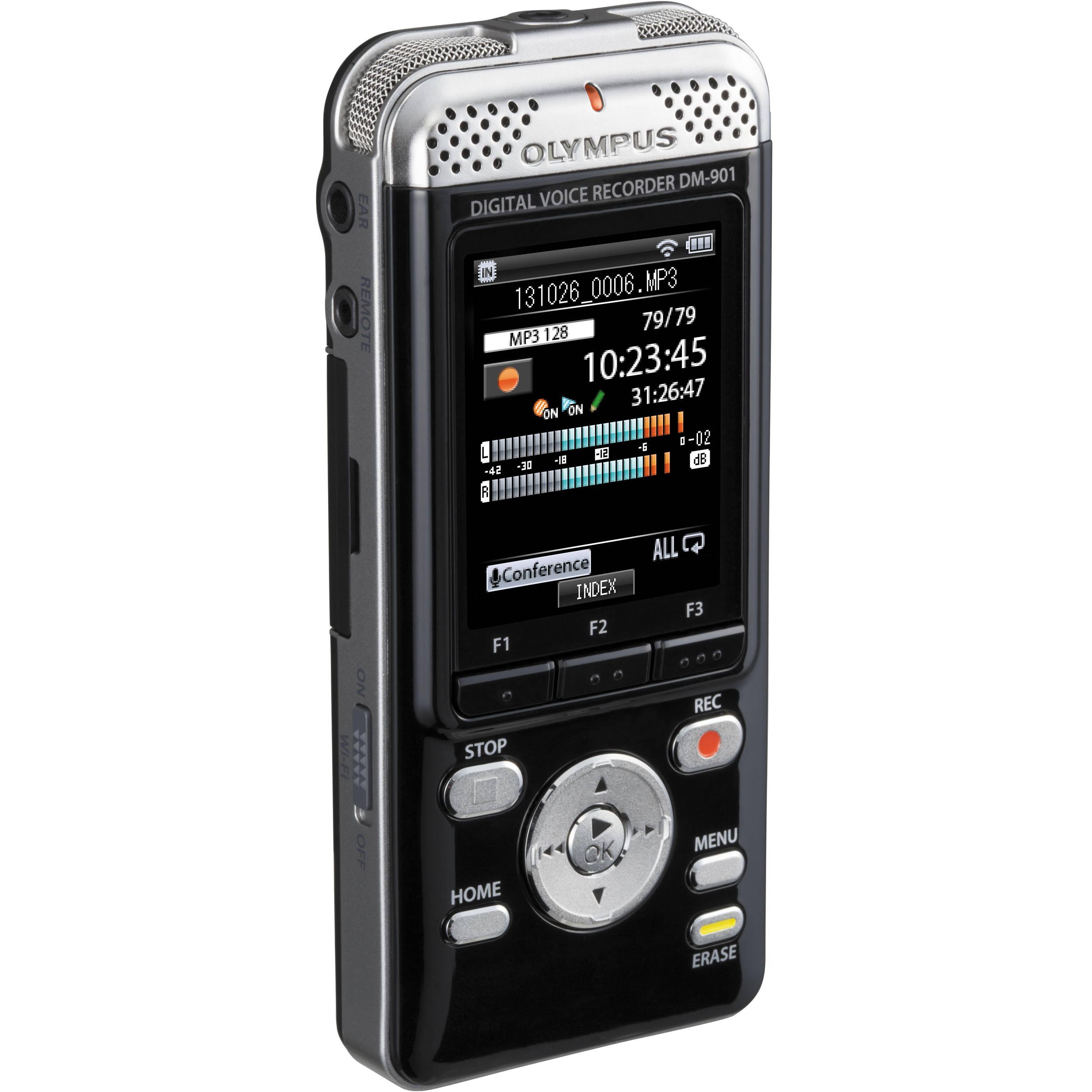olympus 4gb dm 901 digital voice recorder v407141bu000 b h photo
