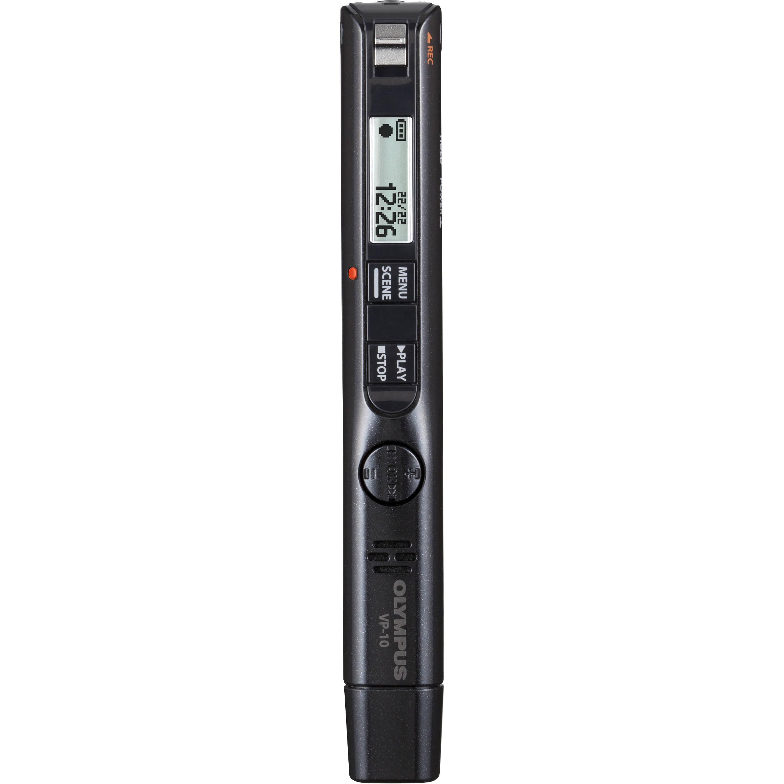 olympus digital voice recorder vp 10 v413111bu000 b h photo