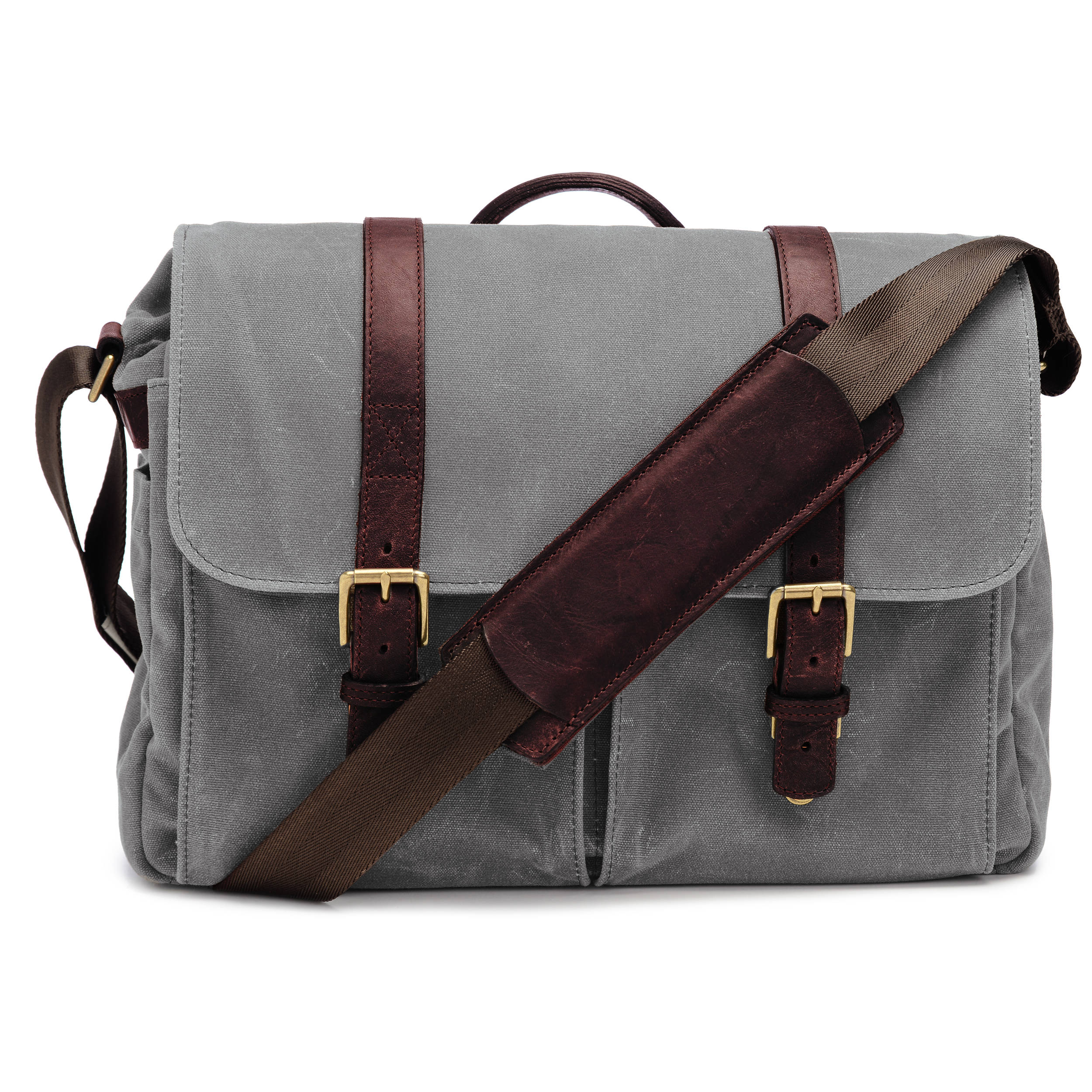 Ona Brixton Camera Laptop Messenger Bag Canvas Smoke