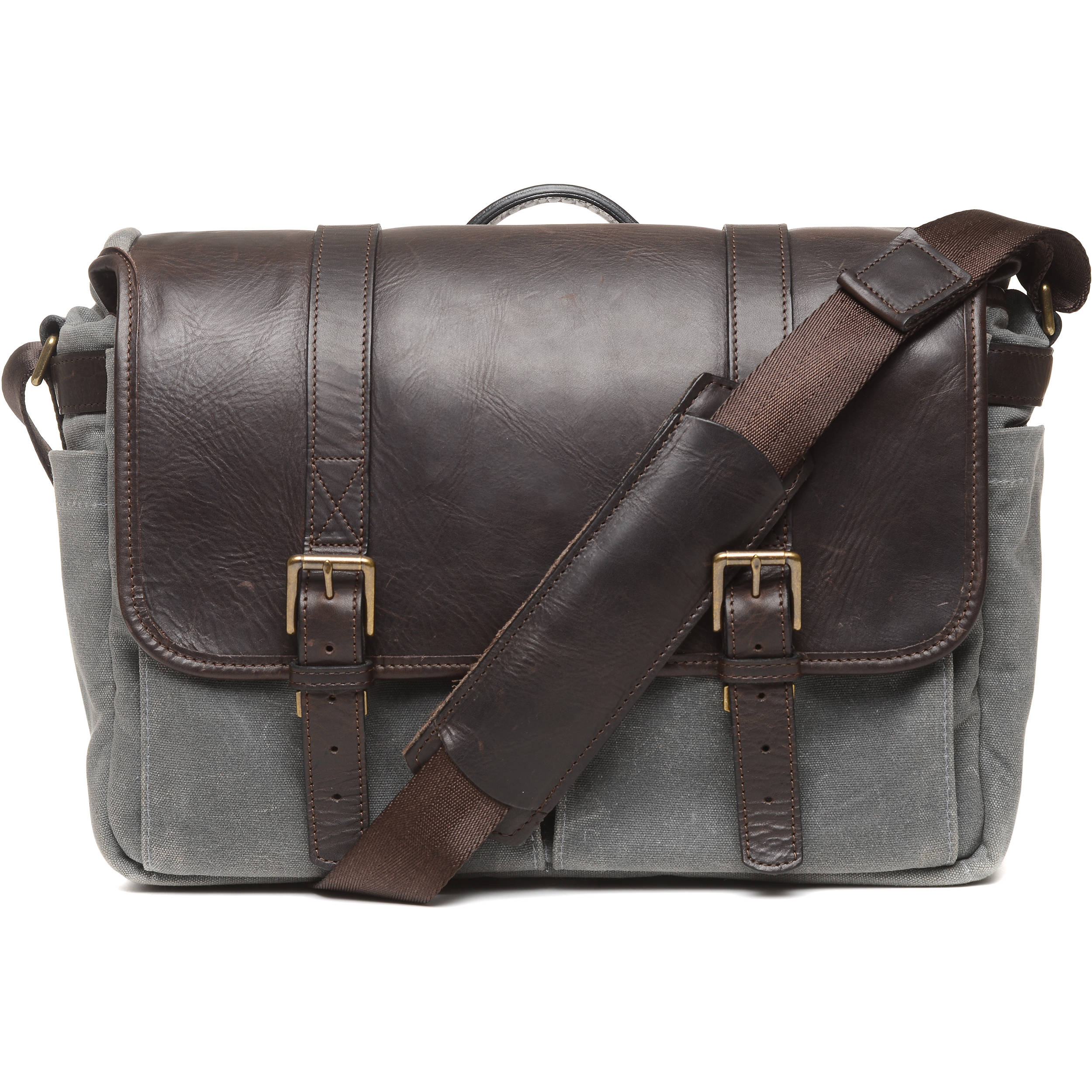 ONA 50 50 Brixton Camera Laptop Messenger Bag (Leather Canvas 6bfb98761