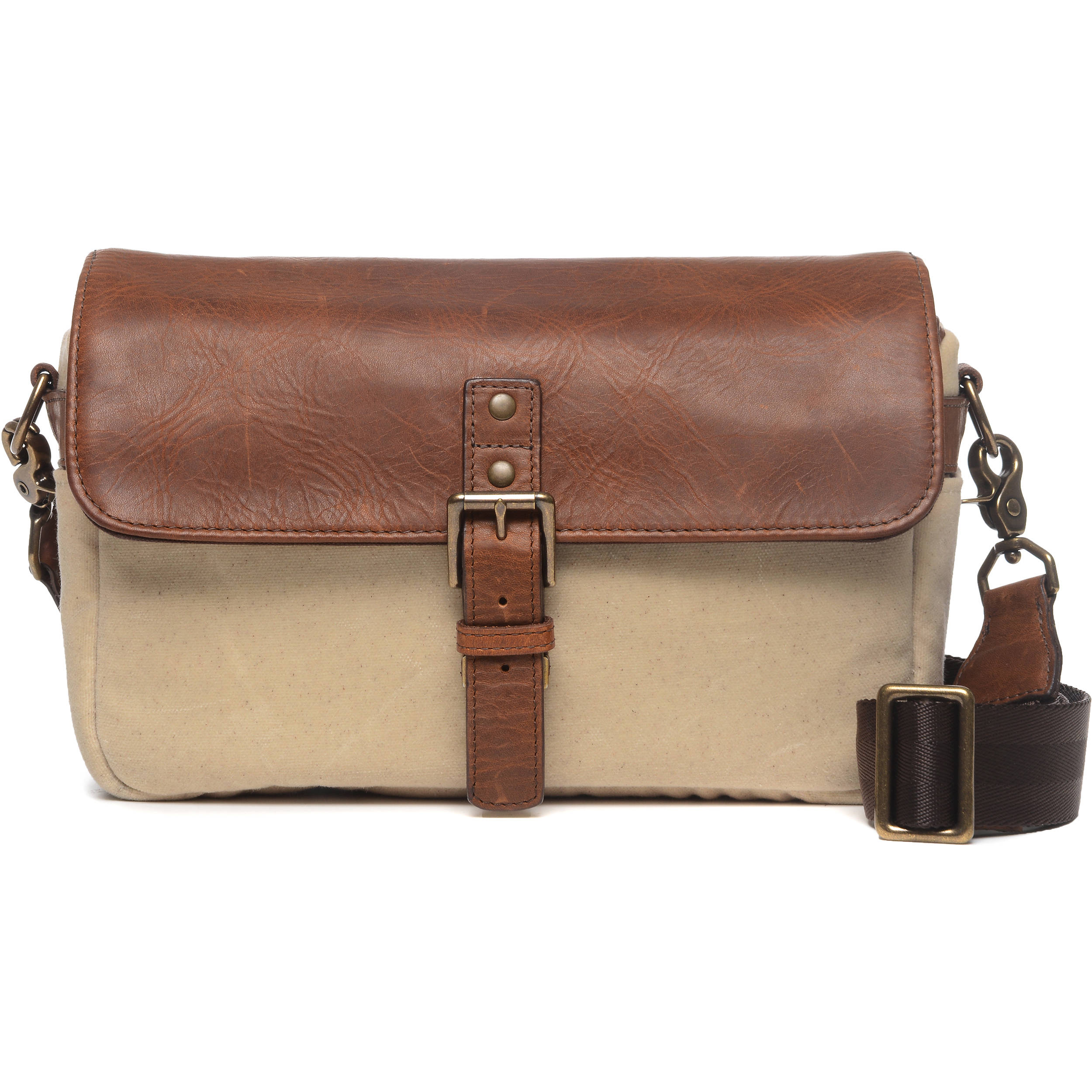 1d896291192 ONA Bowery 50/50 Camera Bag (Leather/Canvas, Natural/Antique Cognac