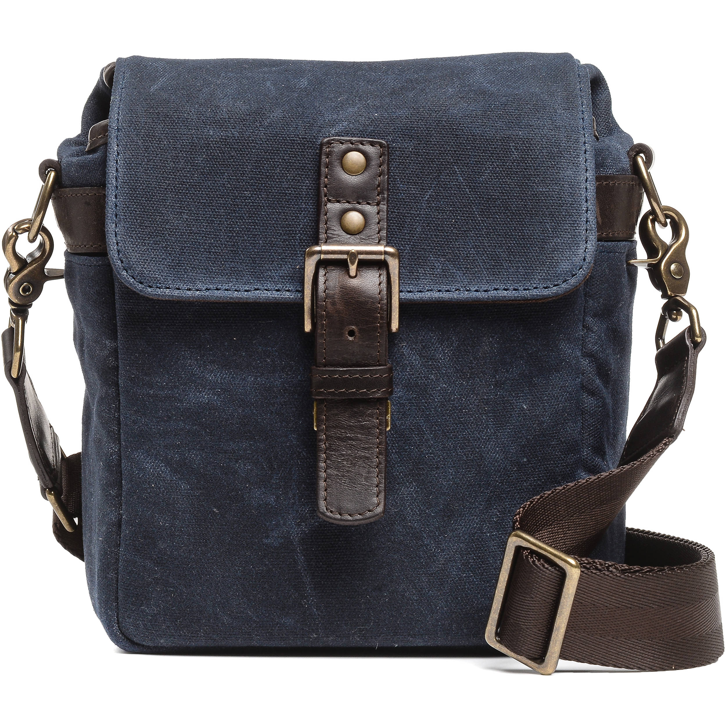 68d57aa330cf8 ONA Bond Street Waxed Canvas Camera Bag (Oxford Blue)