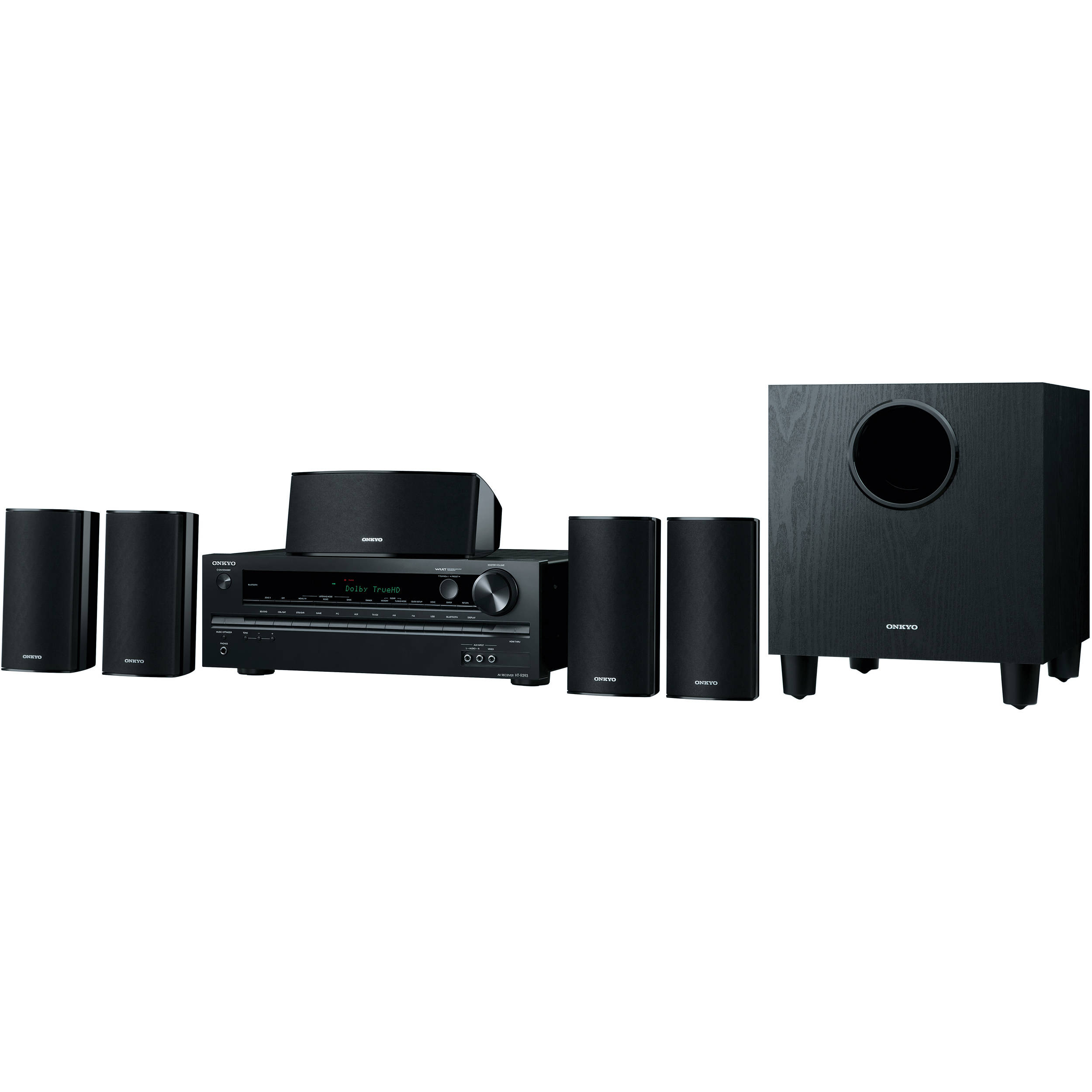 onkyo ht s3700 5 1 channel home theater system ht s3700 b h. Black Bedroom Furniture Sets. Home Design Ideas