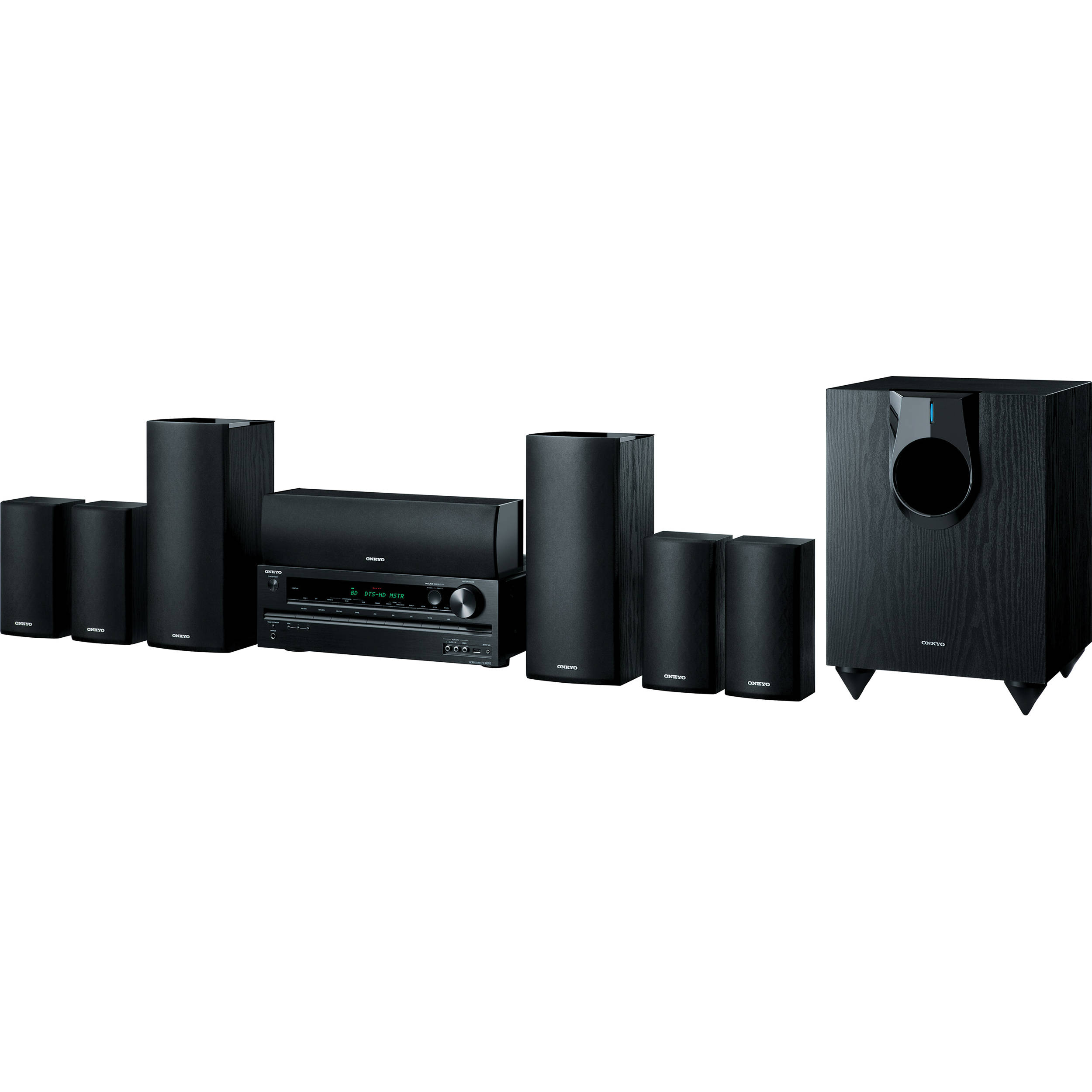 Home Theater Receiver : Onkyo ht s channel home theater receiver and