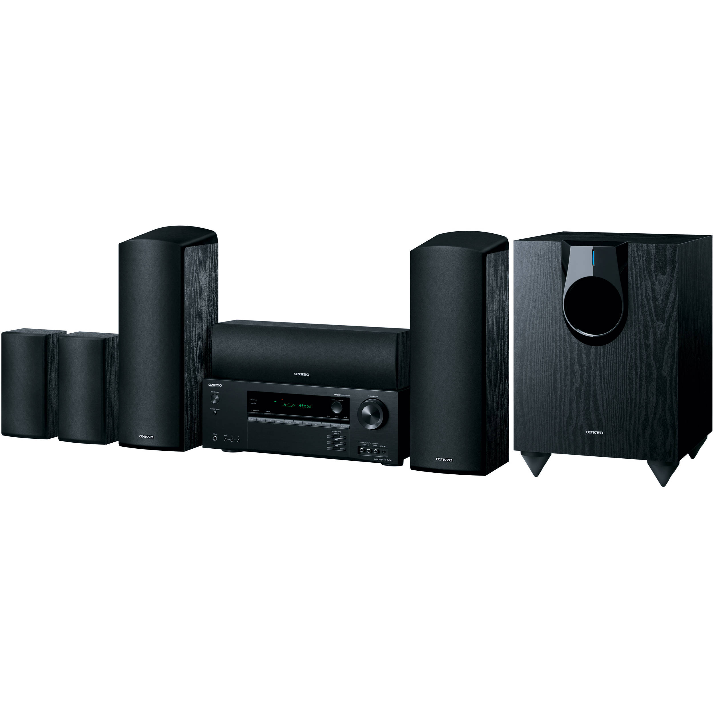 onkyo ht s5800 5 1 2 channel home theater system ht s5800 b h. Black Bedroom Furniture Sets. Home Design Ideas