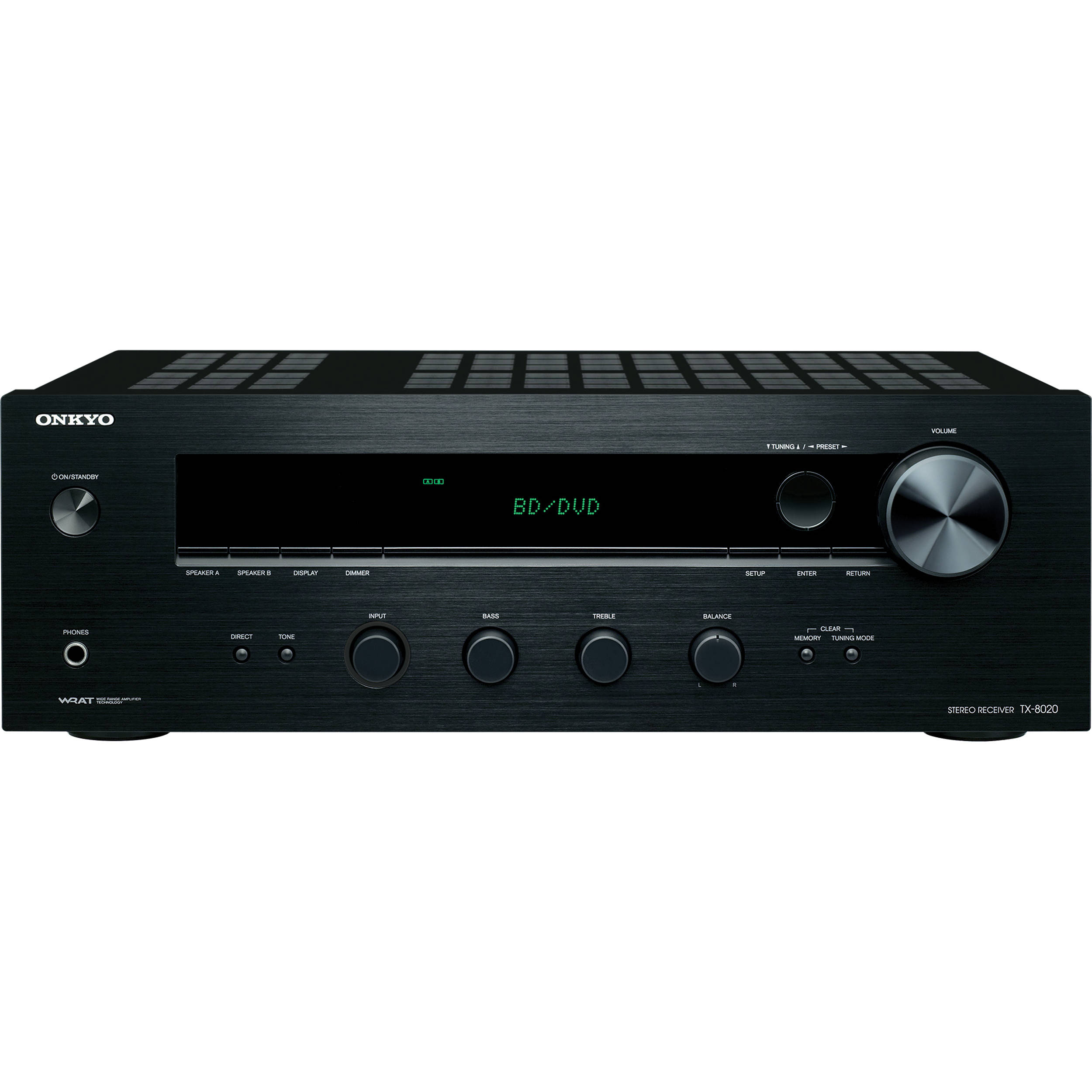 Onkyo Tx 8020 Stereo Receiver Tx 8020 B Amp H Photo Video