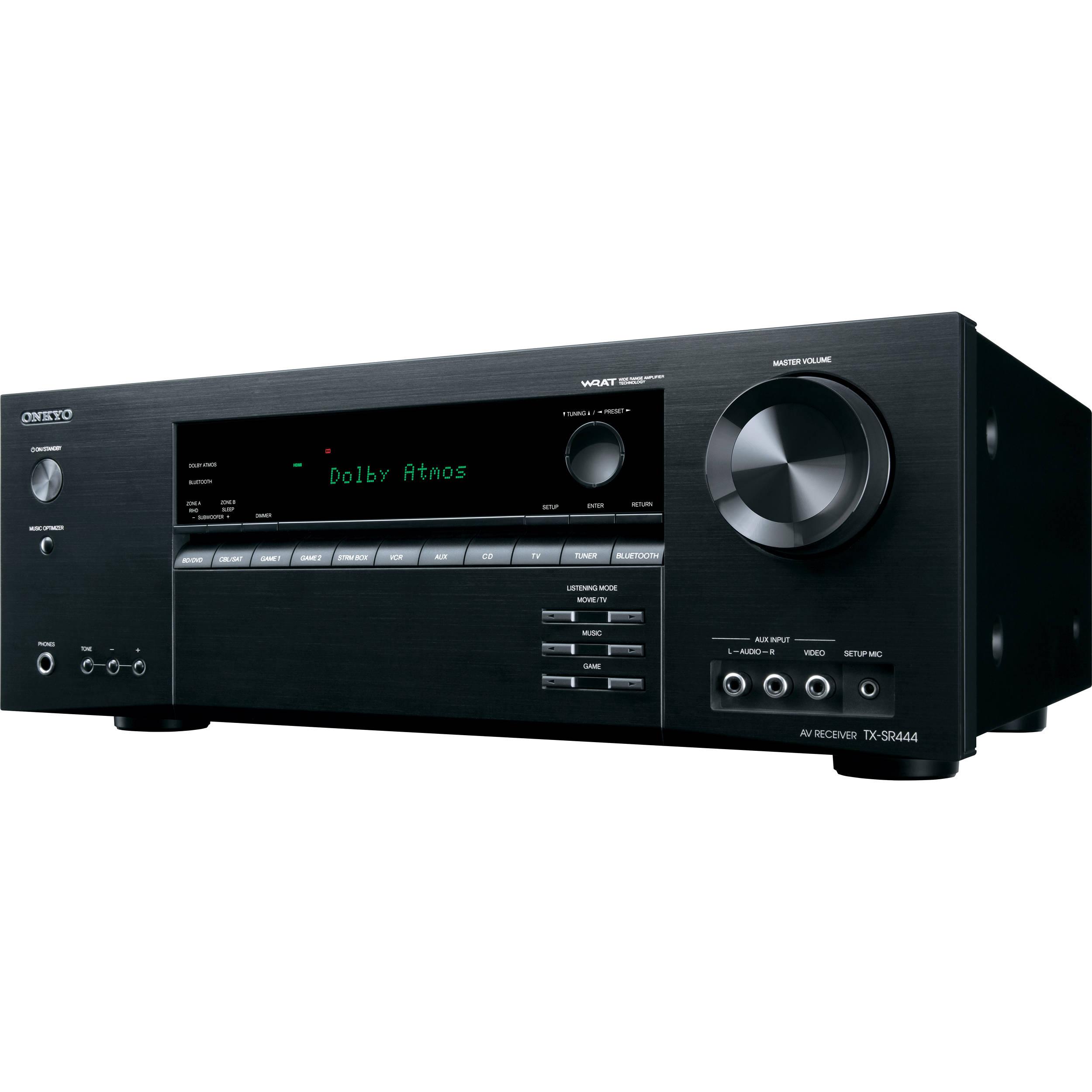 onkyo tx sr444 7 1 channel av receiver tx sr444 b h photo video rh bhphotovideo com Onkyo TX 8511 Manual Onkyo TX 8511 Manual
