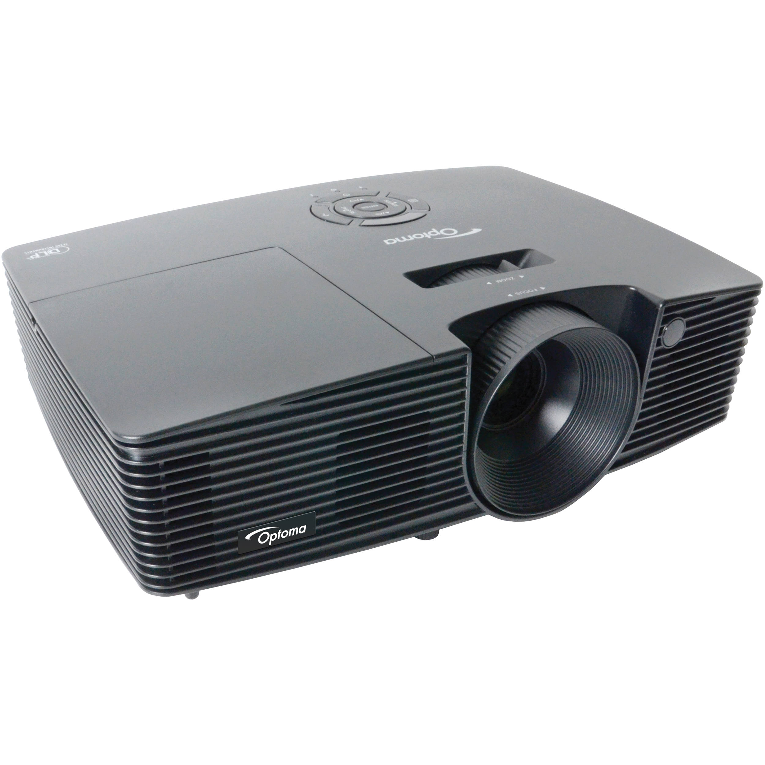Optoma technology s316 svga dlp multimedia projector s316 b h for Dlp portable projector