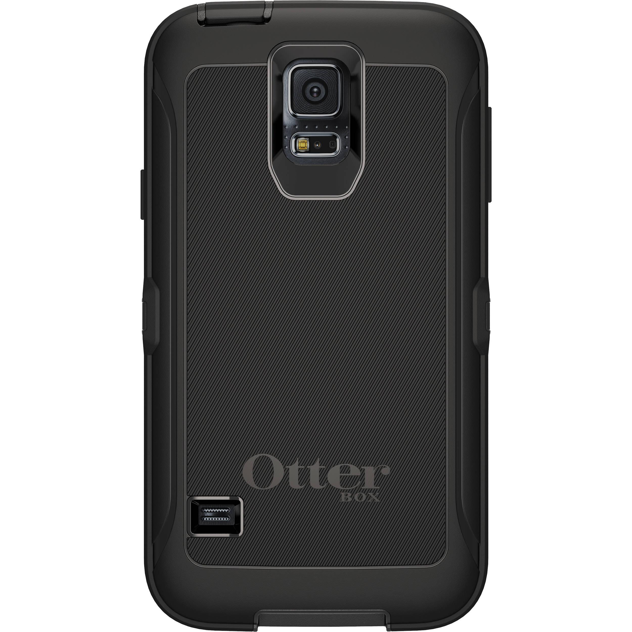 Otter Box Defender Case for Galaxy S5 (Black) 77-38796 Bu0026H Photo