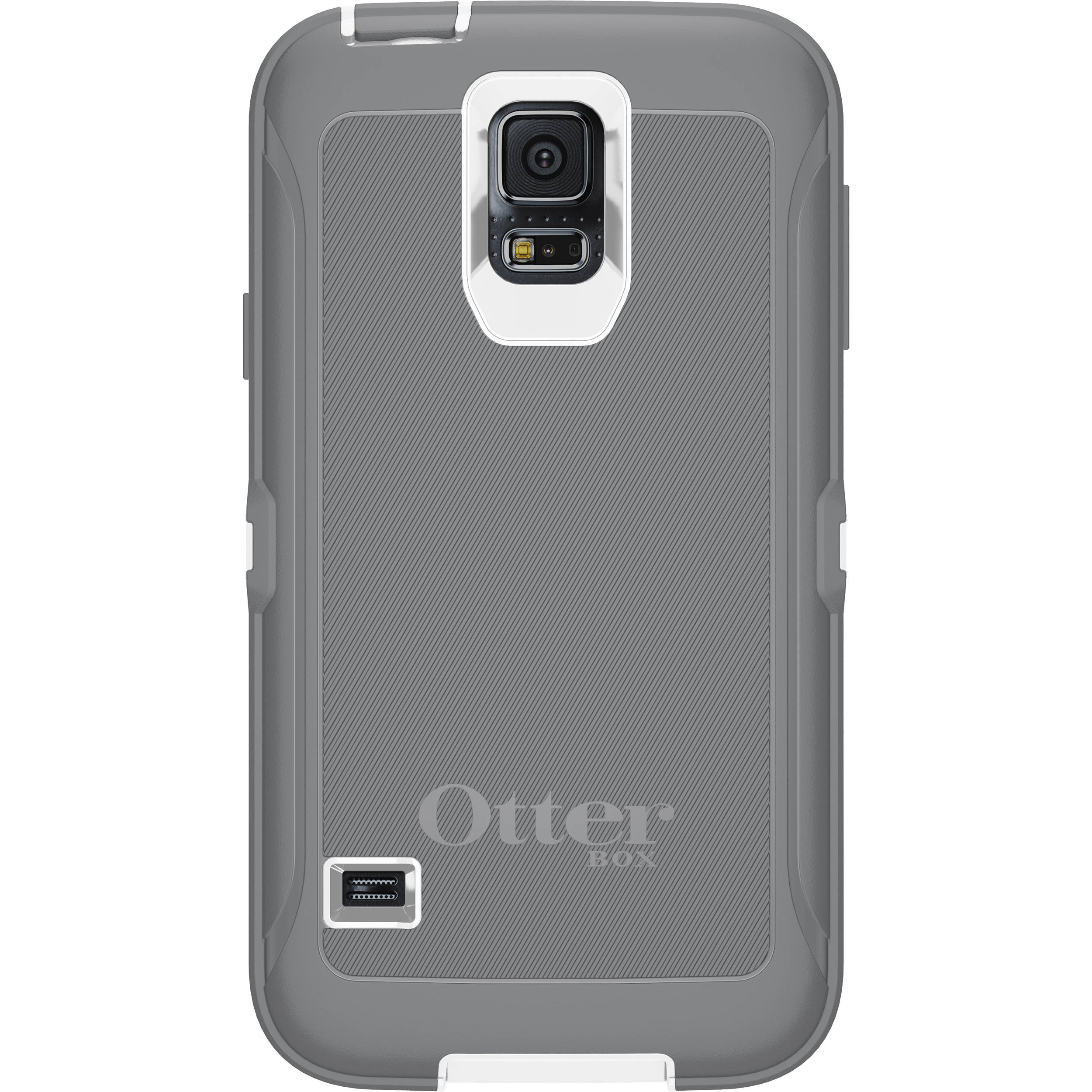 Otter Box Defender Series Case for Galaxy S5 (White/Gunmetal Gray)