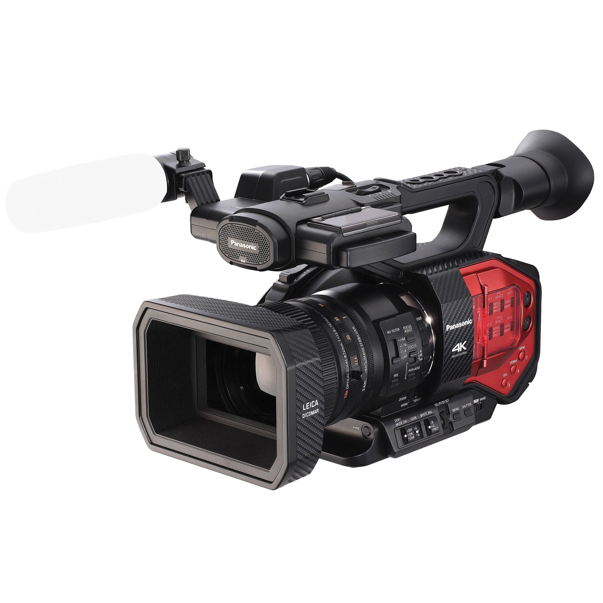 Panasonic AG-DVX200 4K Handheld Camcorder with Four AG-DVX200PJ