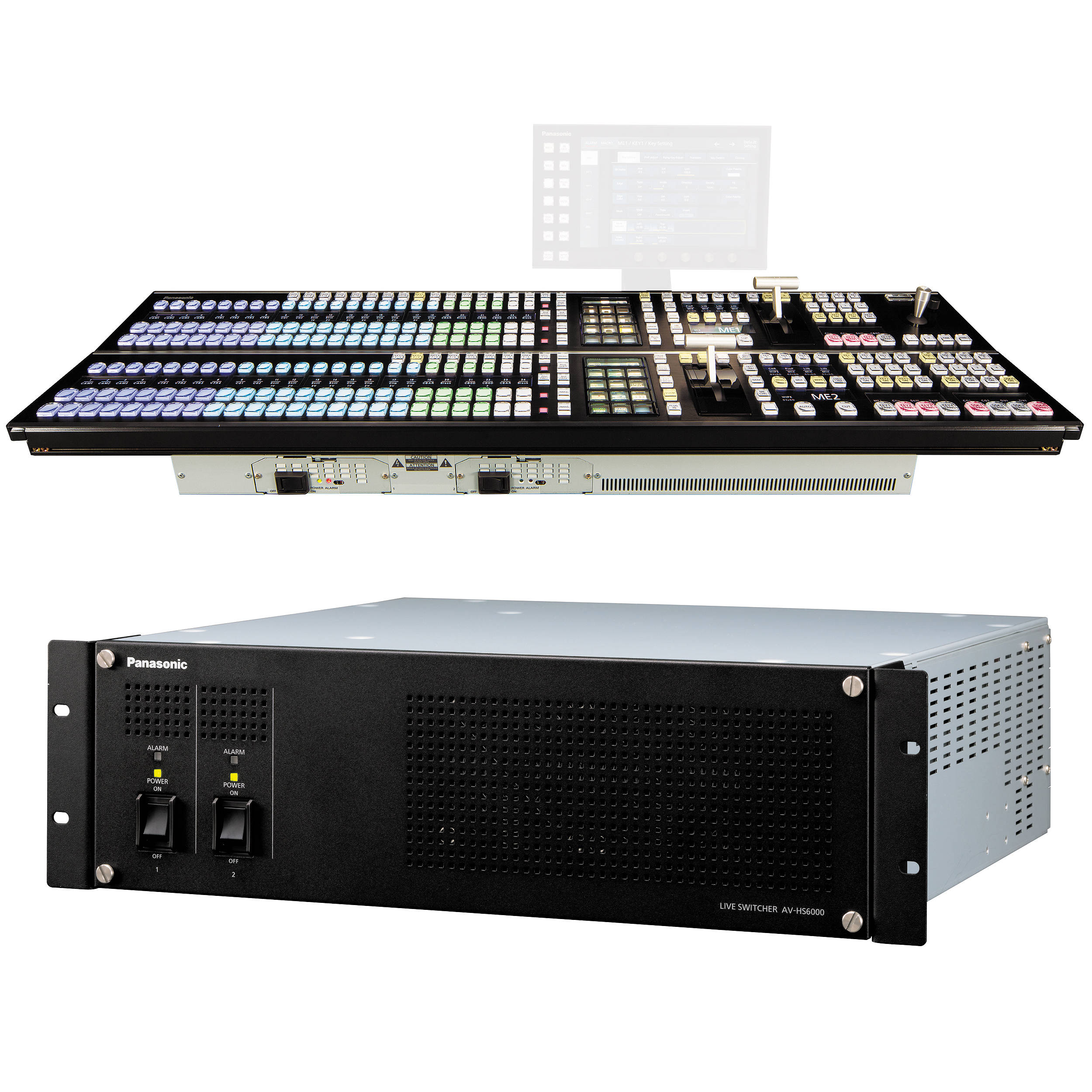 panasonic av hs6000 2 m e live switcher main frame av hs6000u2ps