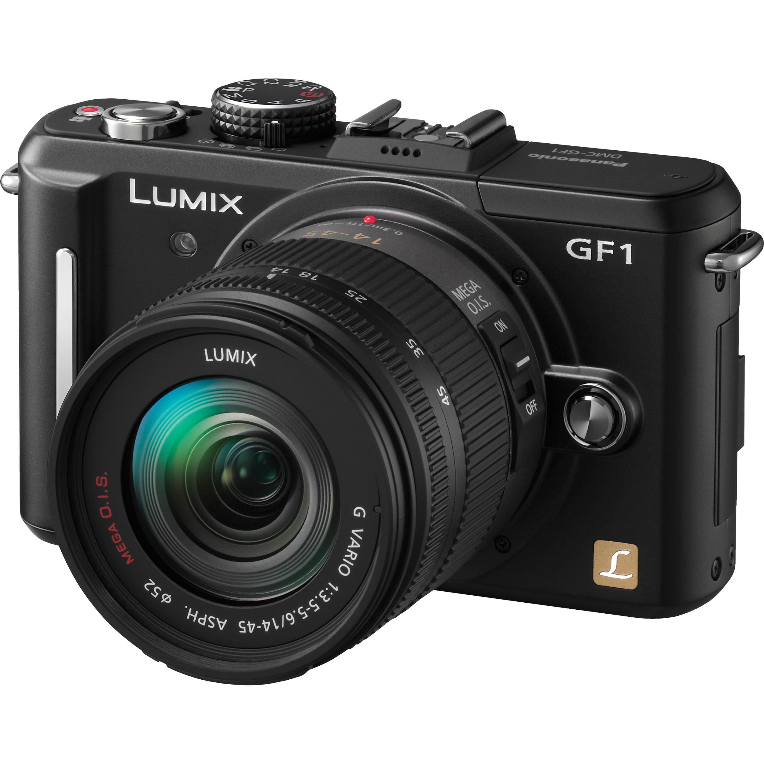 Panasonic Lumix DMC-GF1 Digital Camera with 14-45mm DMC-GF1K-K