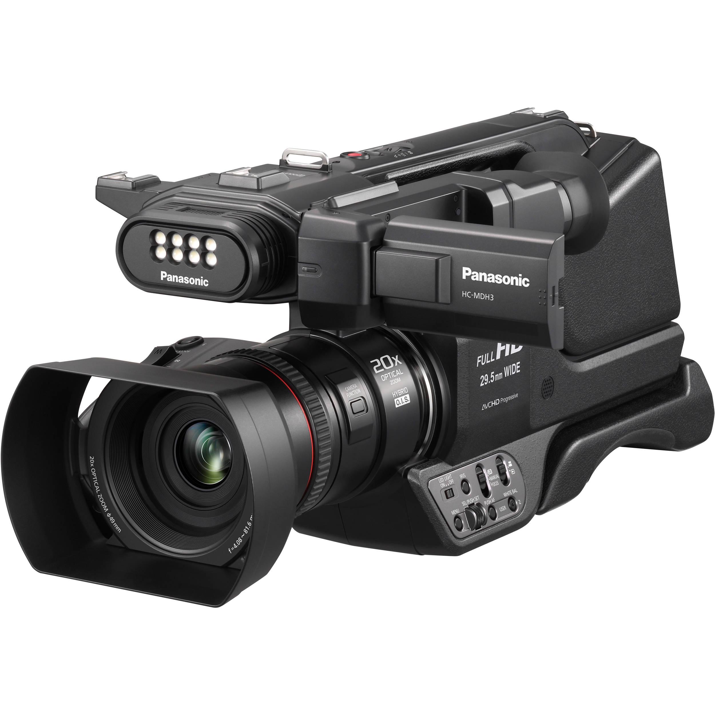 e901f7e8bf37 Panasonic HC-MDH3 AVCHD Shoulder Mount Camcorder with LCD Touchscreen   LED  Light