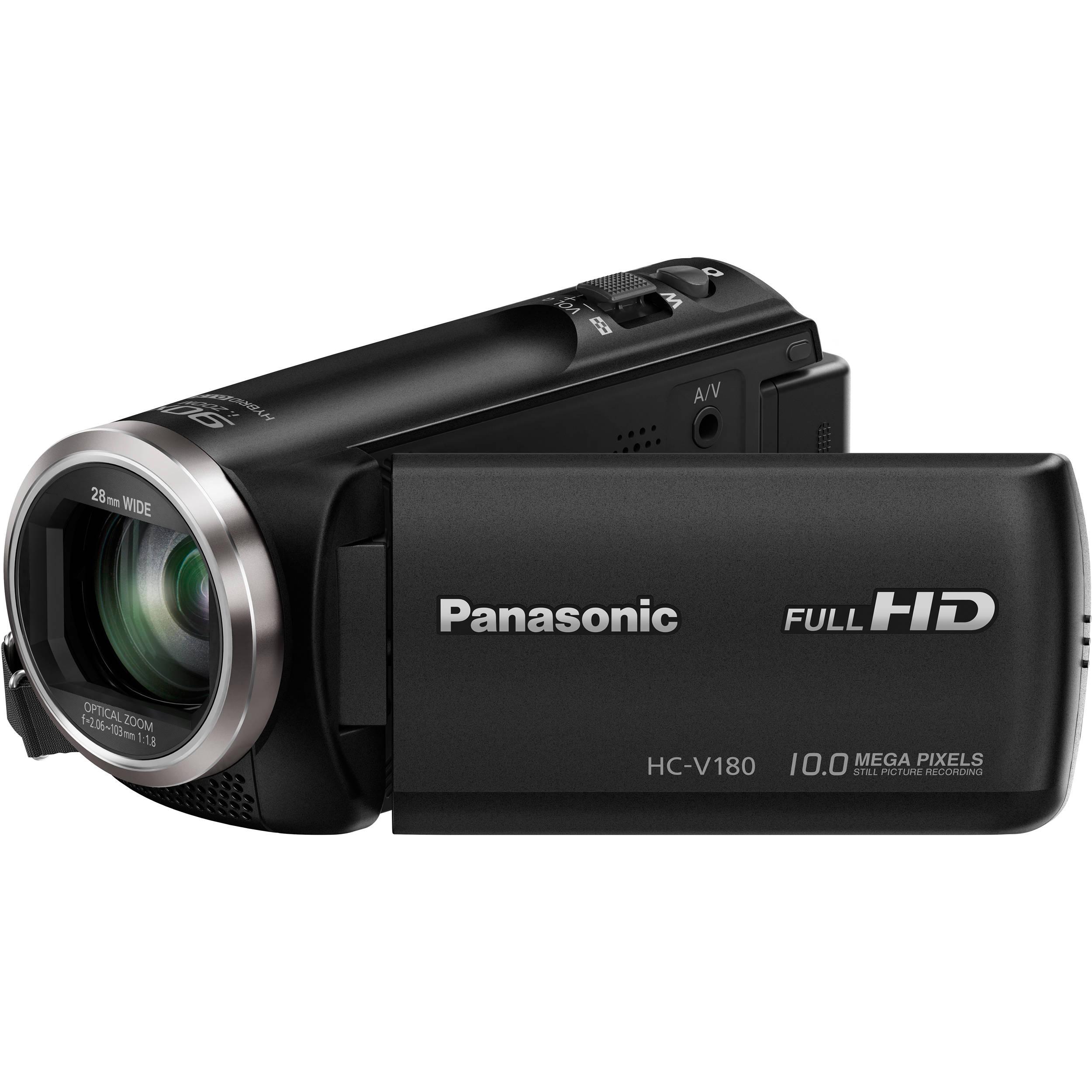 panasonic hc v180k full hd camcorder black hc v180k b h photo rh bhphotovideo com Panasonic Professional Camcorders Panasonic Mini DV Digital Camcorder