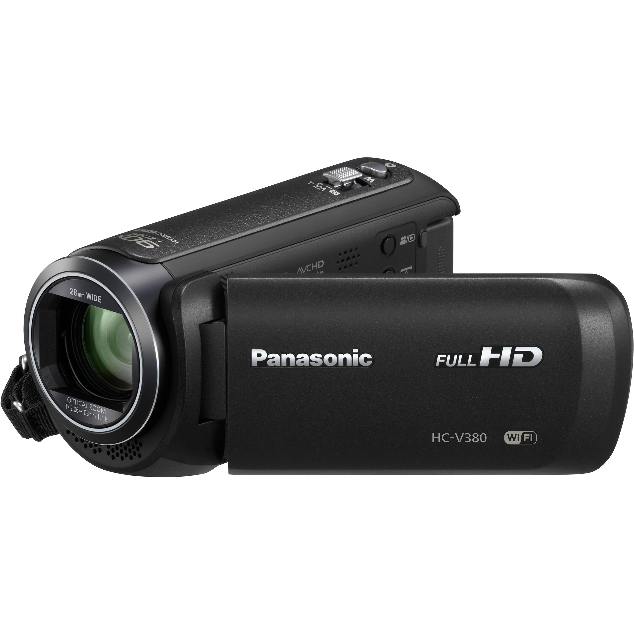 Panasonic Hc V380k Full Hd Camcorder Hc V380k B H Photo Video