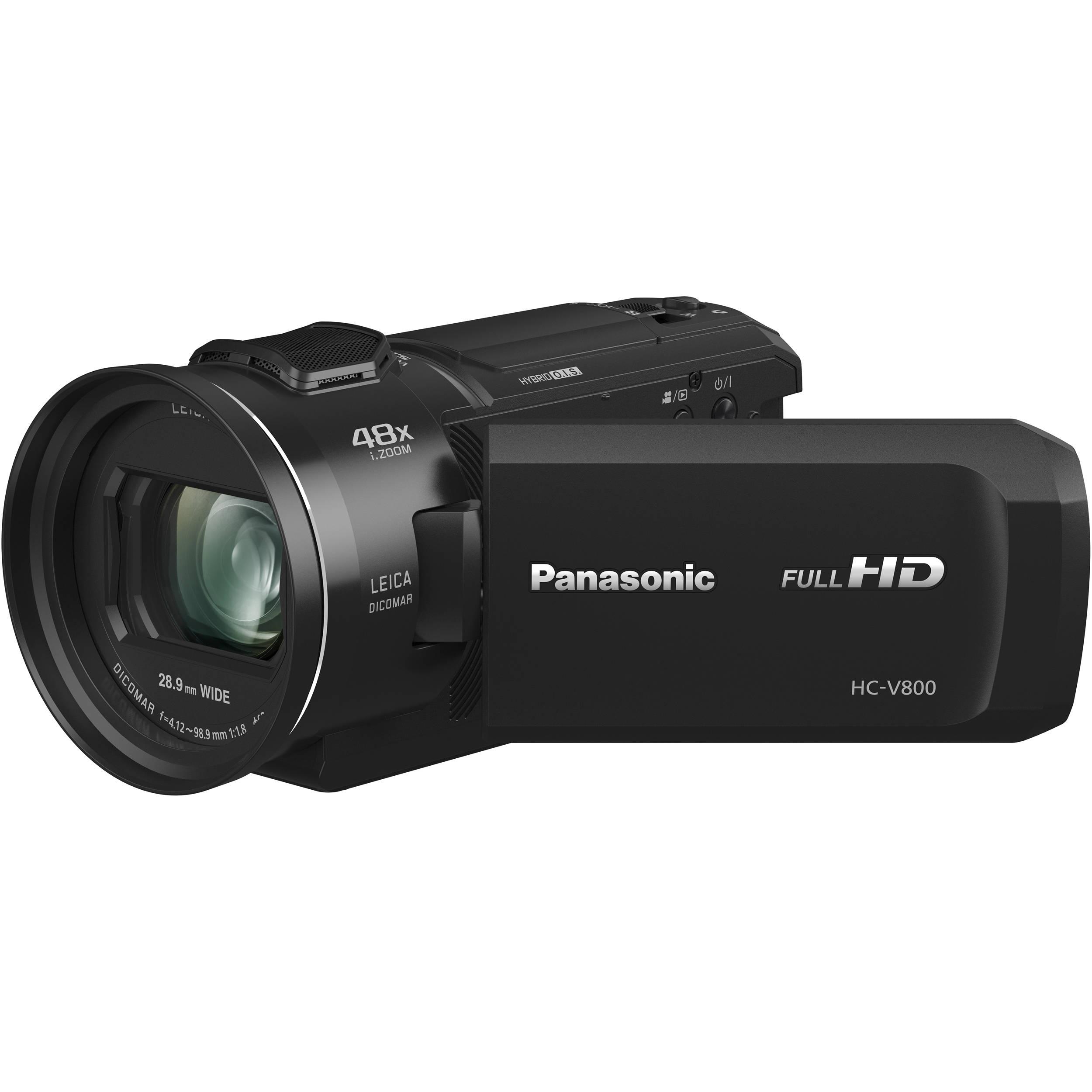 panasonic hc v800 full hd camcorder hc v800k b h photo video. Black Bedroom Furniture Sets. Home Design Ideas