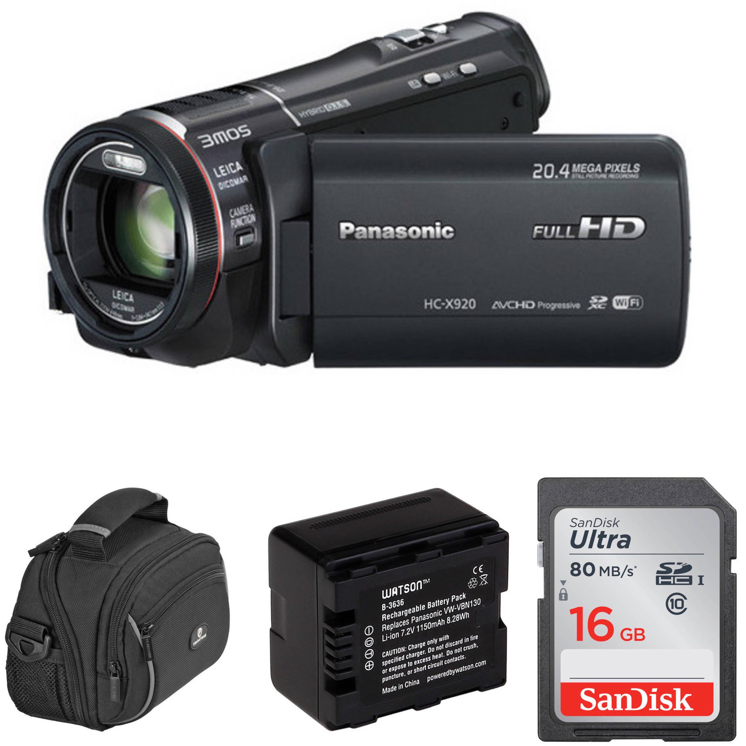 panasonic hc x920k full hd camcorder basic kit b h photo video. Black Bedroom Furniture Sets. Home Design Ideas