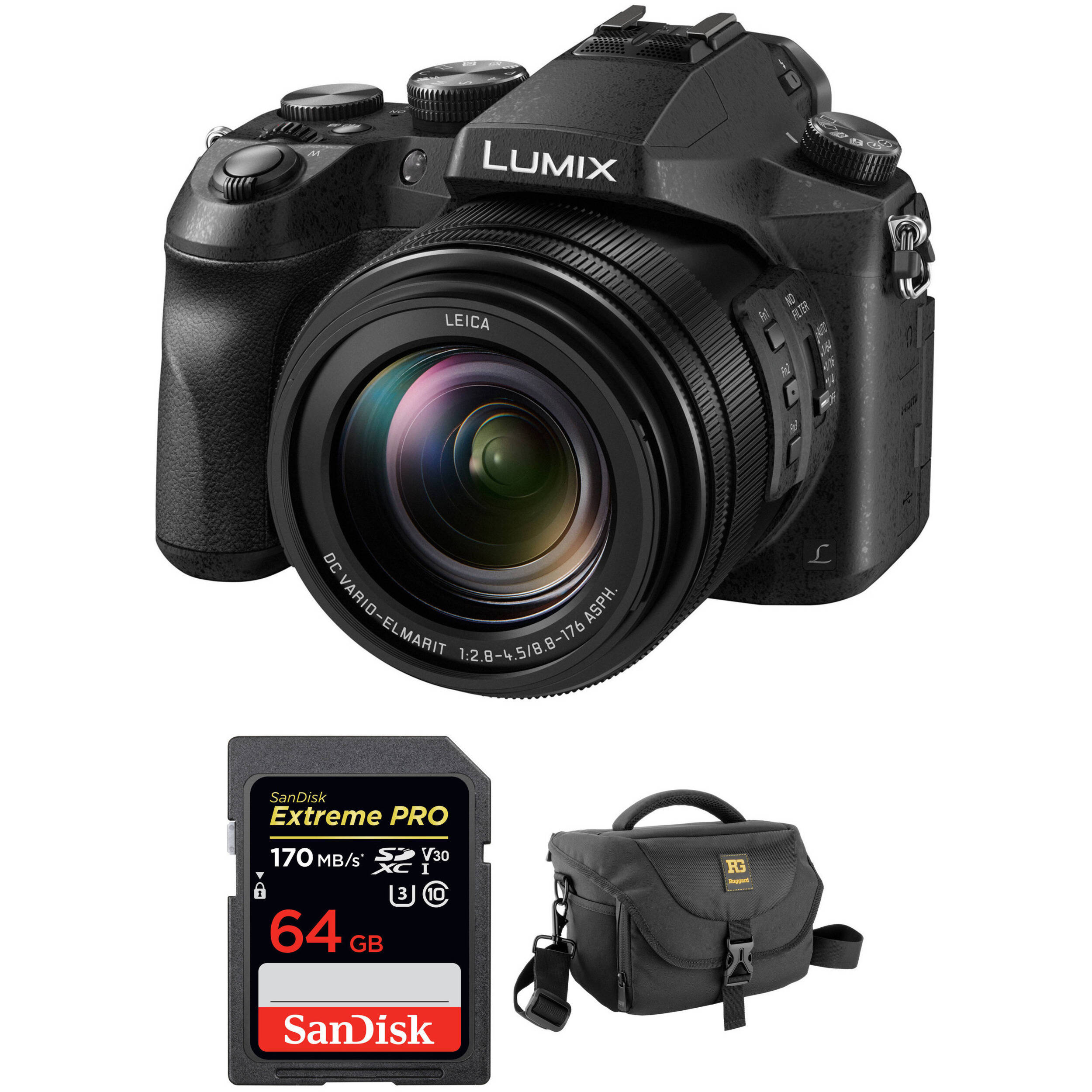 d6368b20b4 Panasonic Lumix DMC-FZ2500 Digital Camera with Free Accessory Kit
