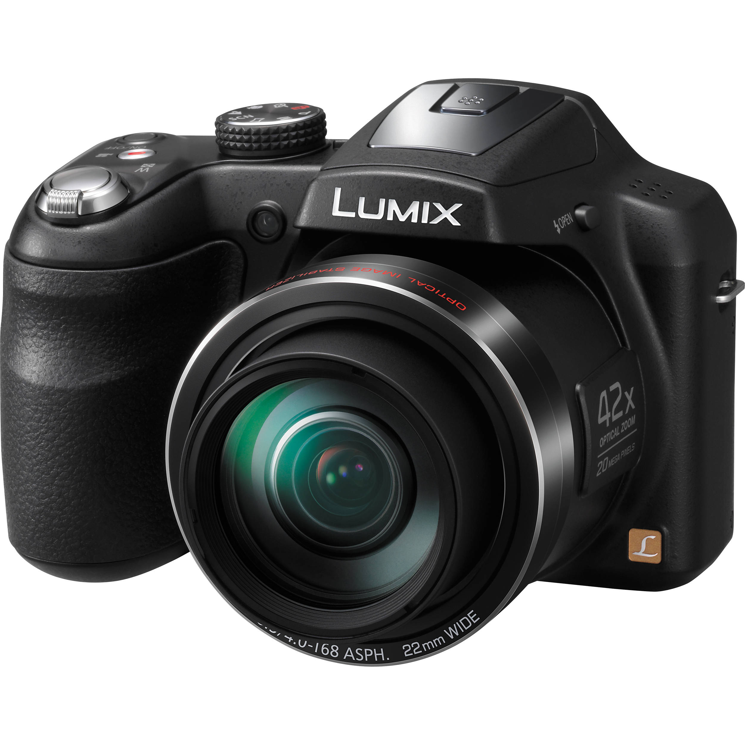 Panasonic LUMIX DMC-LZ40 Digital Camera (Black) DMC-LZ40K B&H