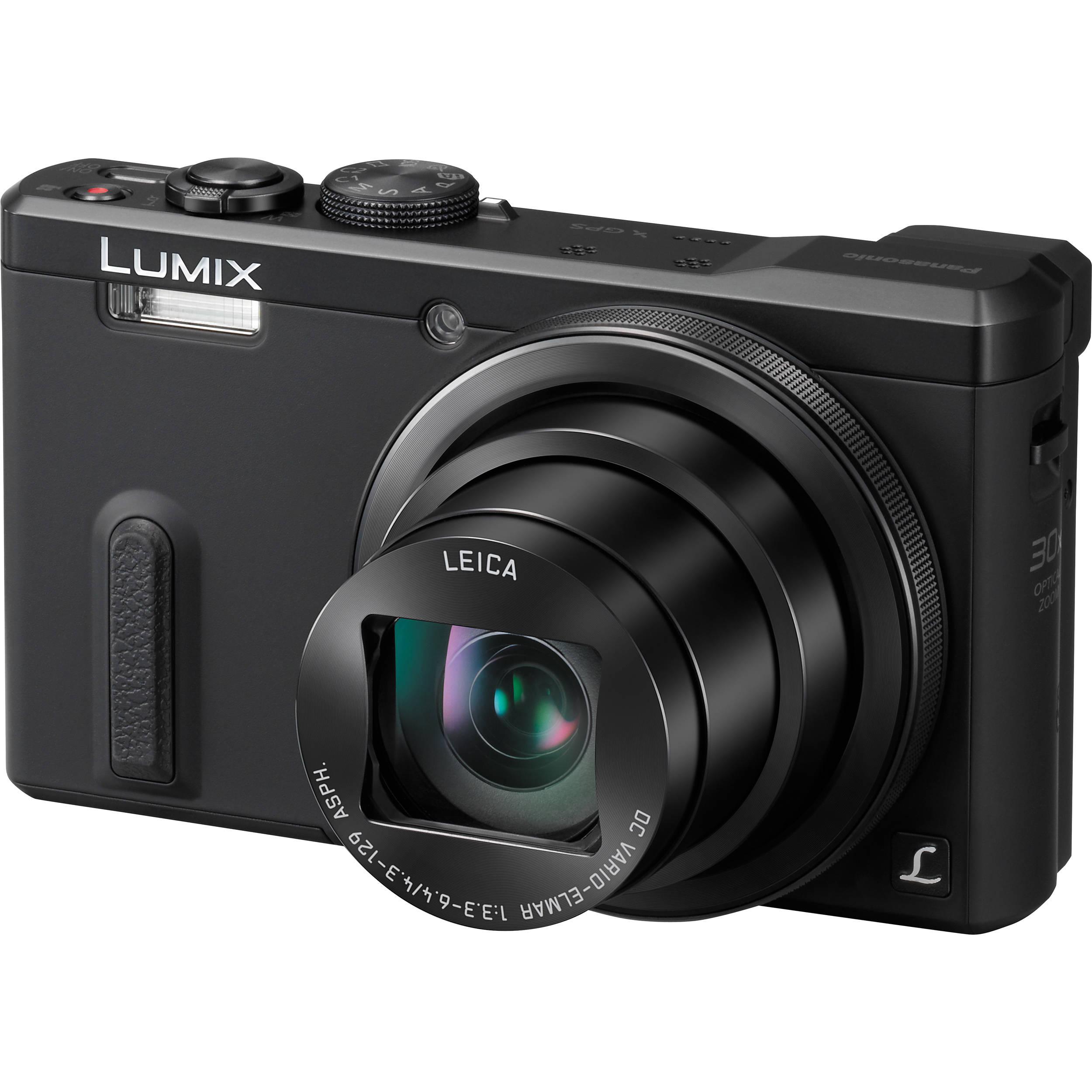 camera panasonic lumix digital dmc zs40 gps pocket compact zoom leica optical