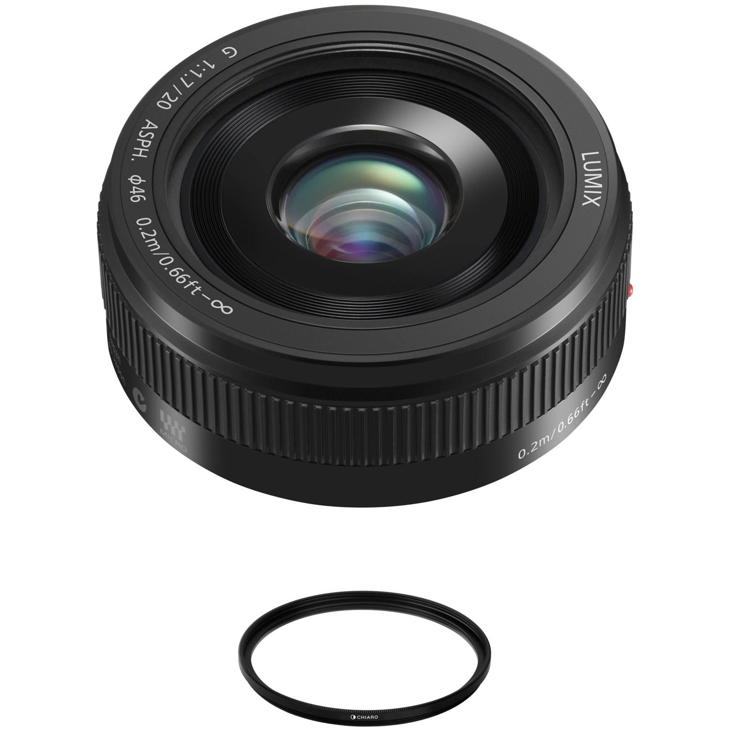 Panasonic Lumix G 20mm f/1 7 II ASPH  Lens (Black)