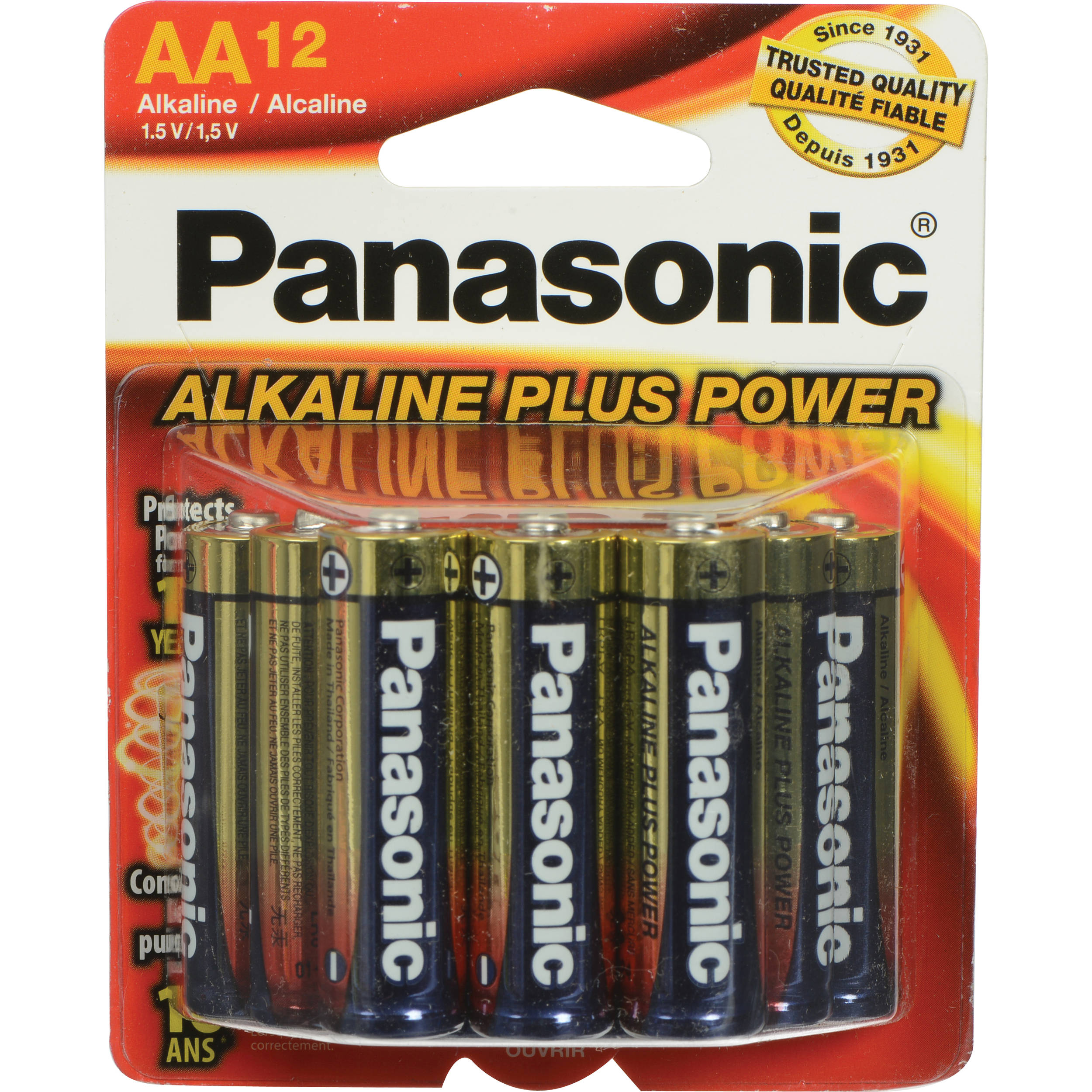 panasonic aa 1 5v alkaline batteries 12 pack pan12aa b h photo. Black Bedroom Furniture Sets. Home Design Ideas