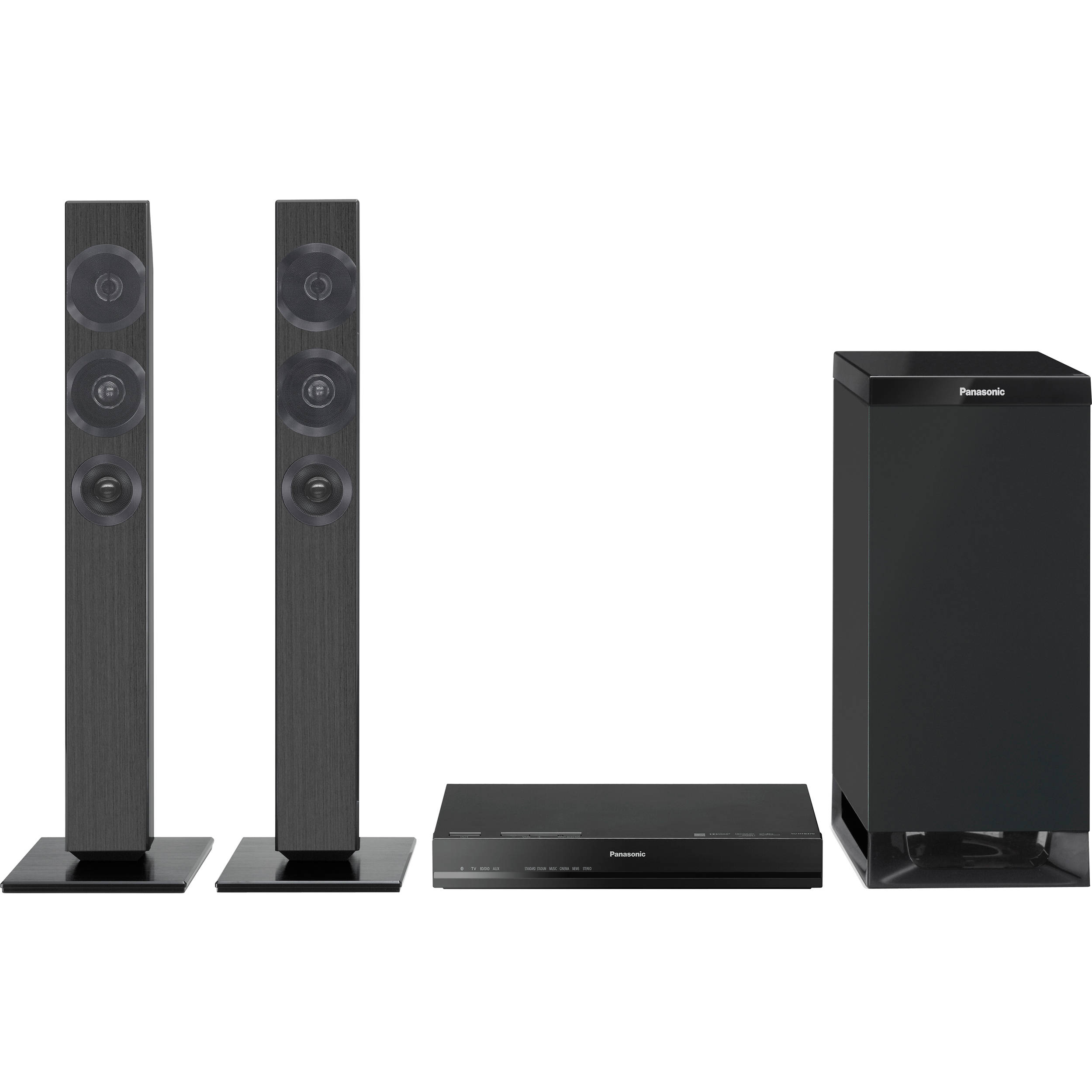 panasonic tv speakers. panasonic sc-htb370 240w home theater system sound bar with subwoofer tv speakers