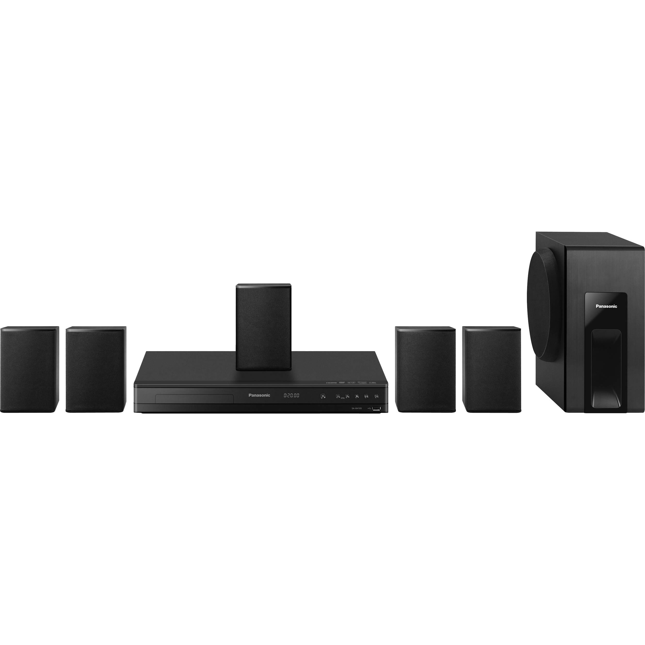 Panasonic sc xh105 dvd home theater sound system sc xh105 b amp h