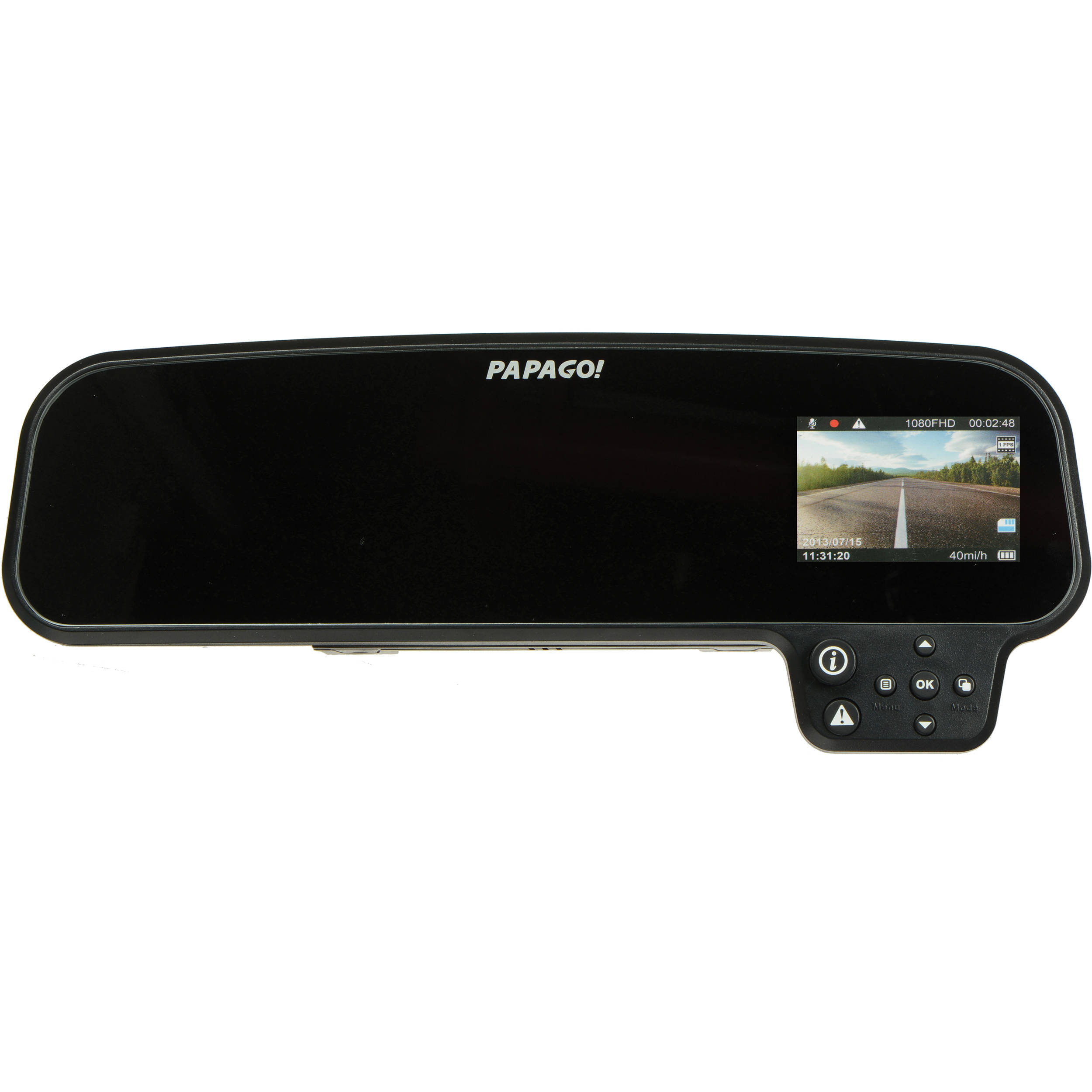 Papago Gosafe 260 Rear View Mirror Dash Camera Gs260 Us B Amp H