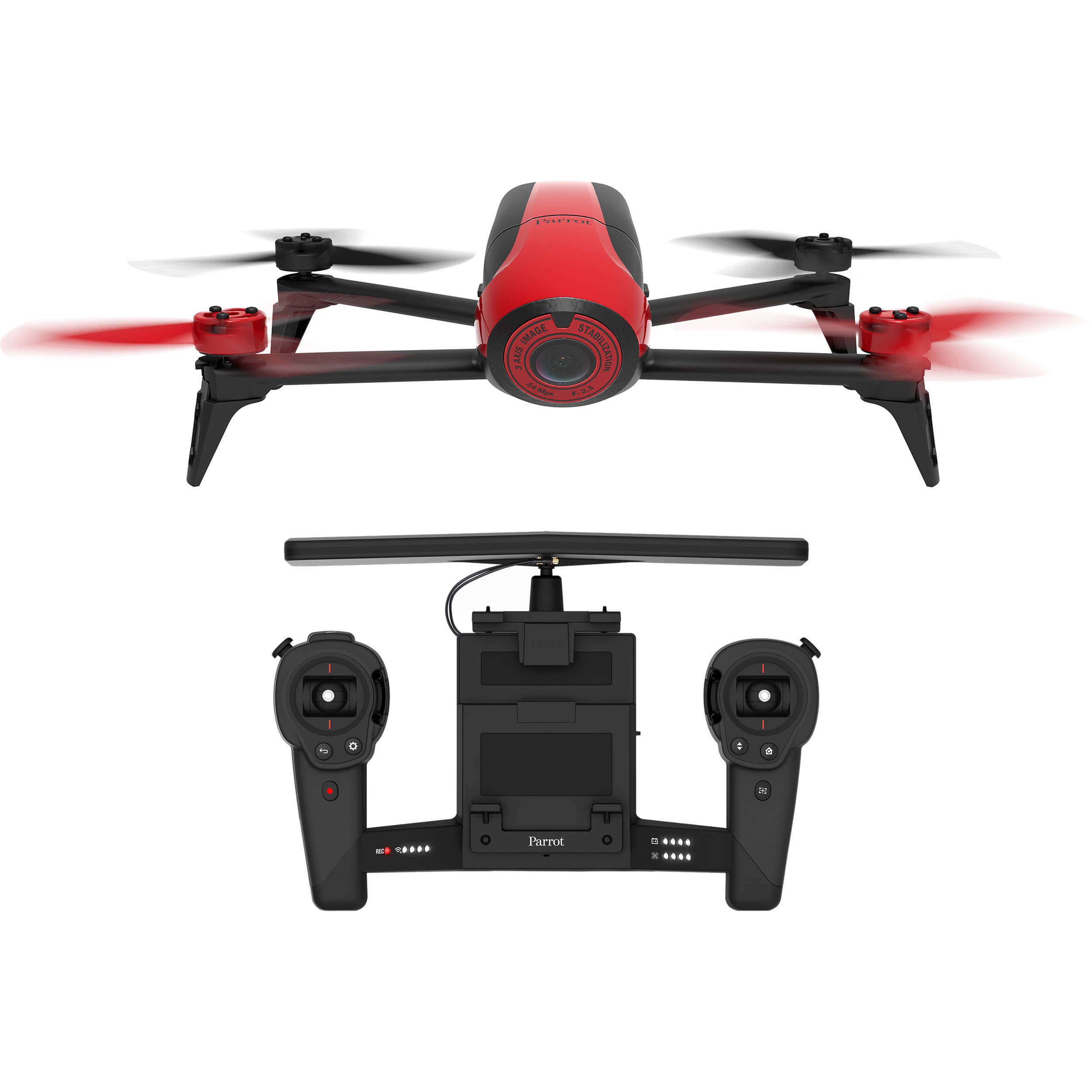 Parrot BeBop 2 Drone With Skycontroller Red