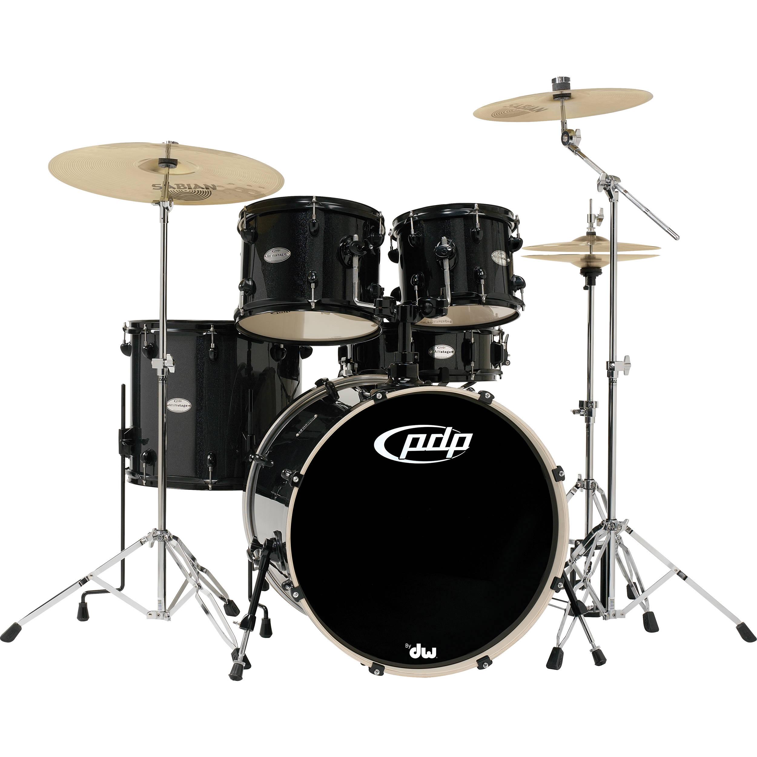 pdp mainstage 5 piece drum kit w 800 hardware and pdma22k8bk b h. Black Bedroom Furniture Sets. Home Design Ideas