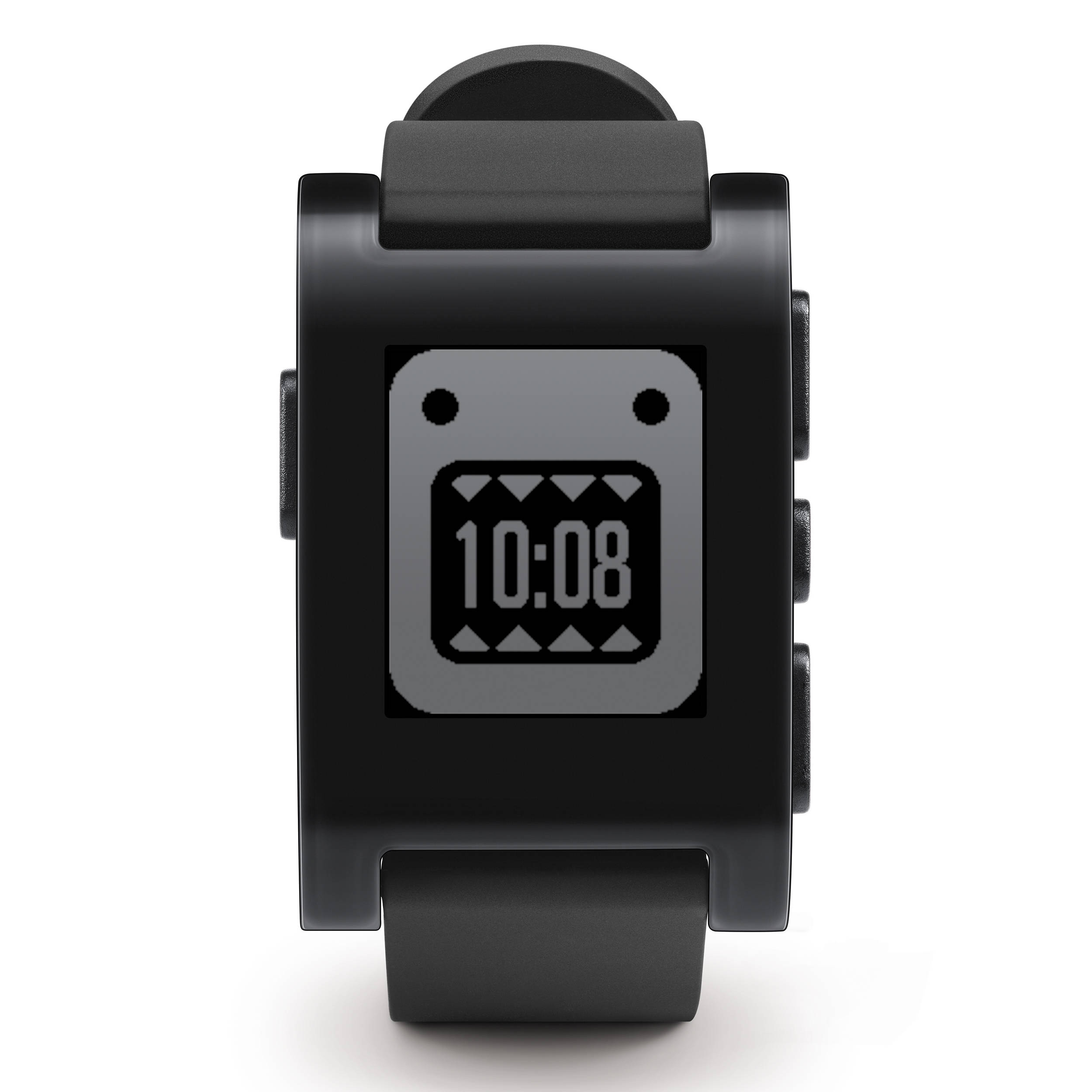Pebble smartwatch jet black tpu rubber band 301bl b h photo for Pebble watches