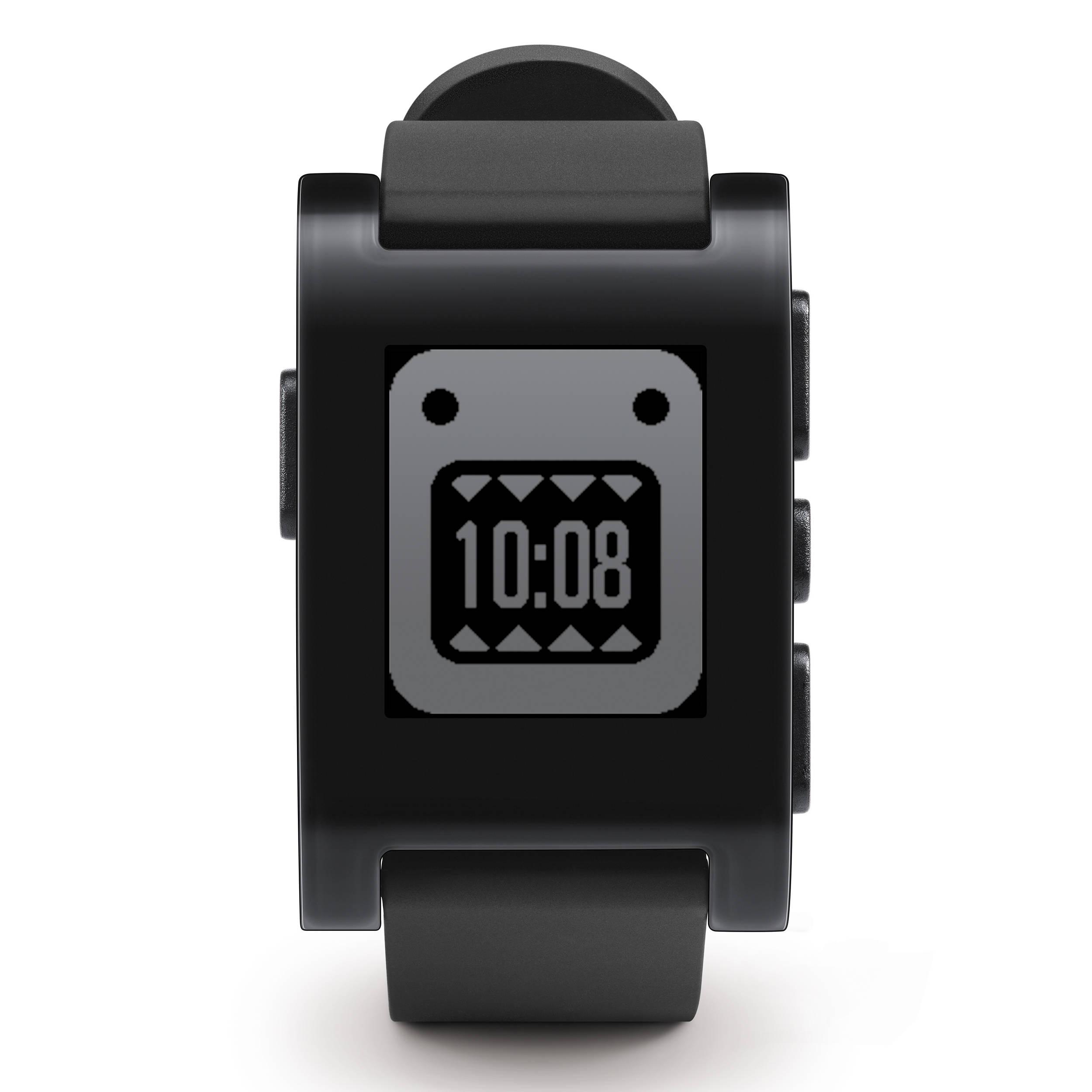 Pebble Smartwatch (Jet Black, TPU Rubber Band) 301BL B&H Photo