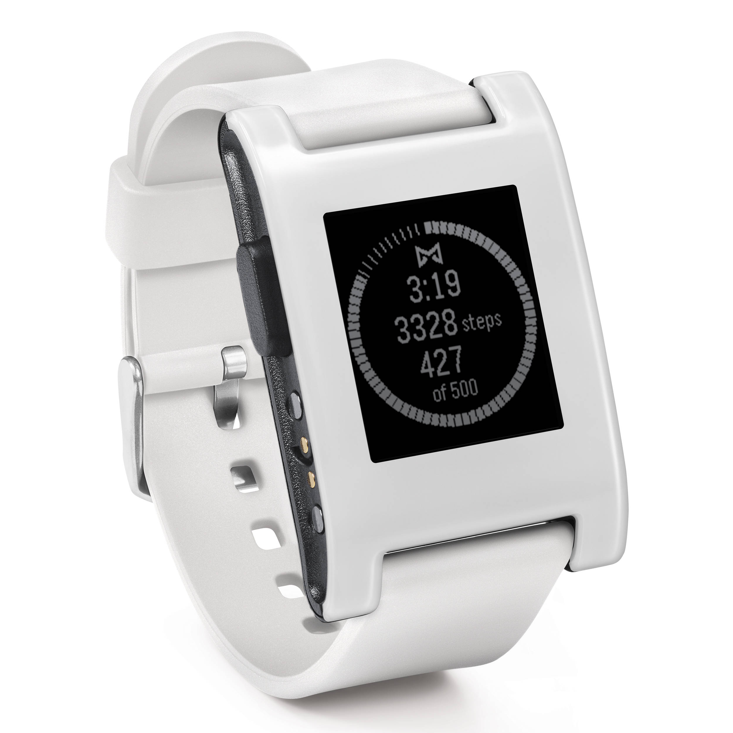 Pebble smartwatch arctic white silicone band 301wh b h photo for Pebble watches