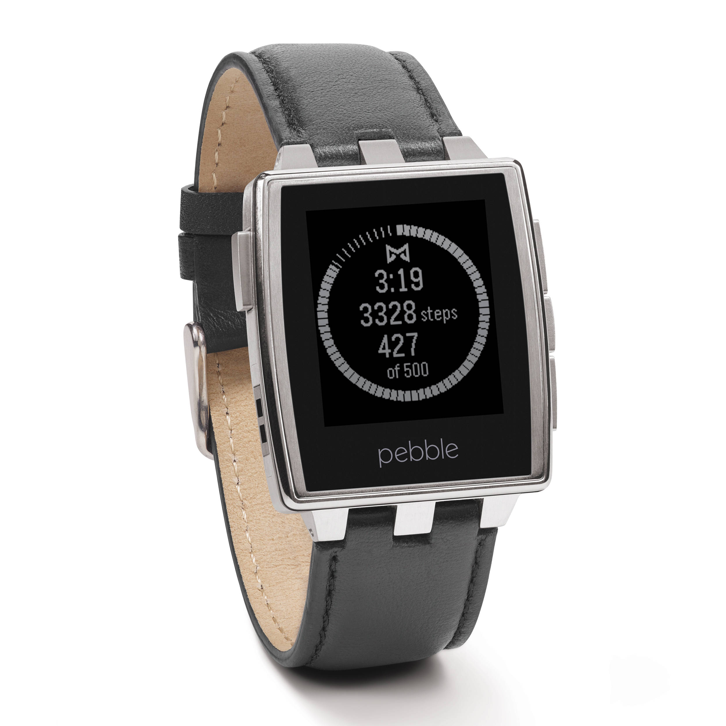 Pebble Steel Smartwatch (Brushed Stainless) 401SLR B&H Photo