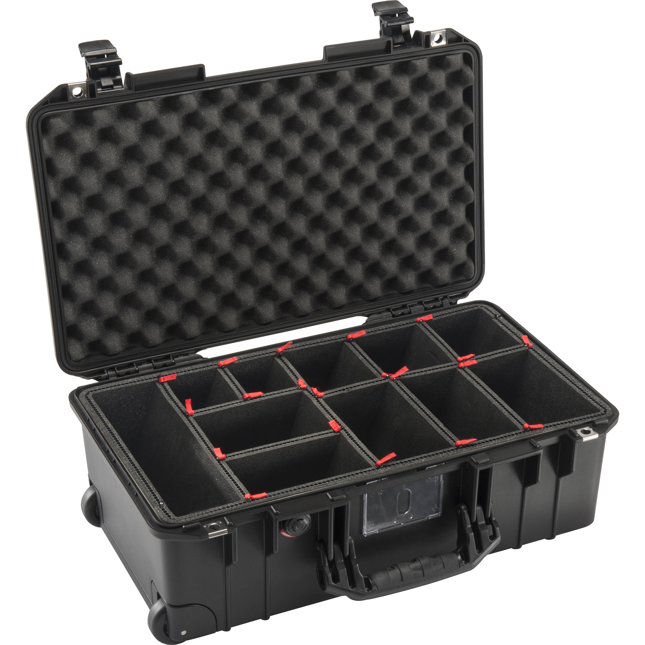 Pelican 1535 AirTP Wheeled Carry-On Case with TrekPak Insert (Black)