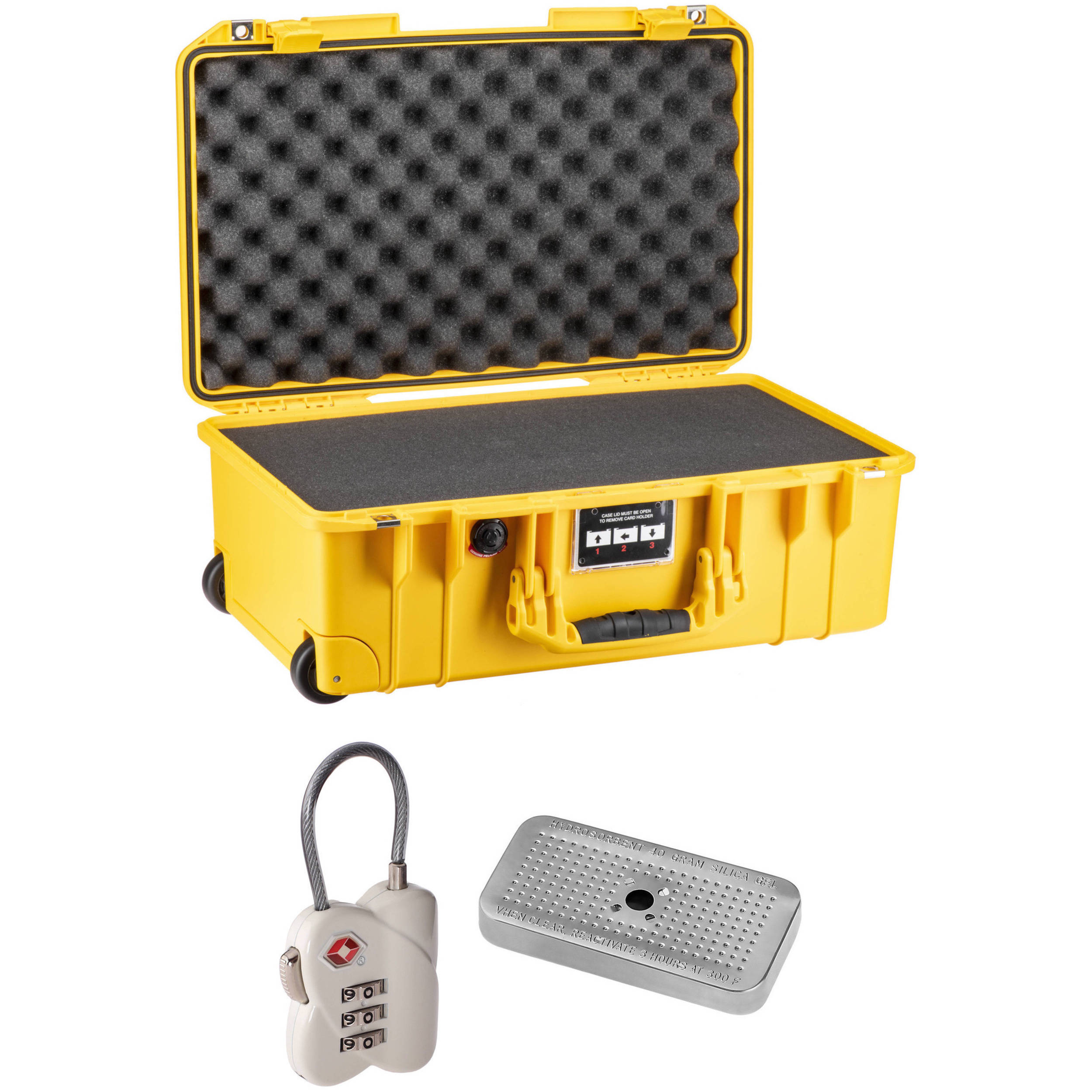 Pelican Air 1535 Case with Foam Yellow