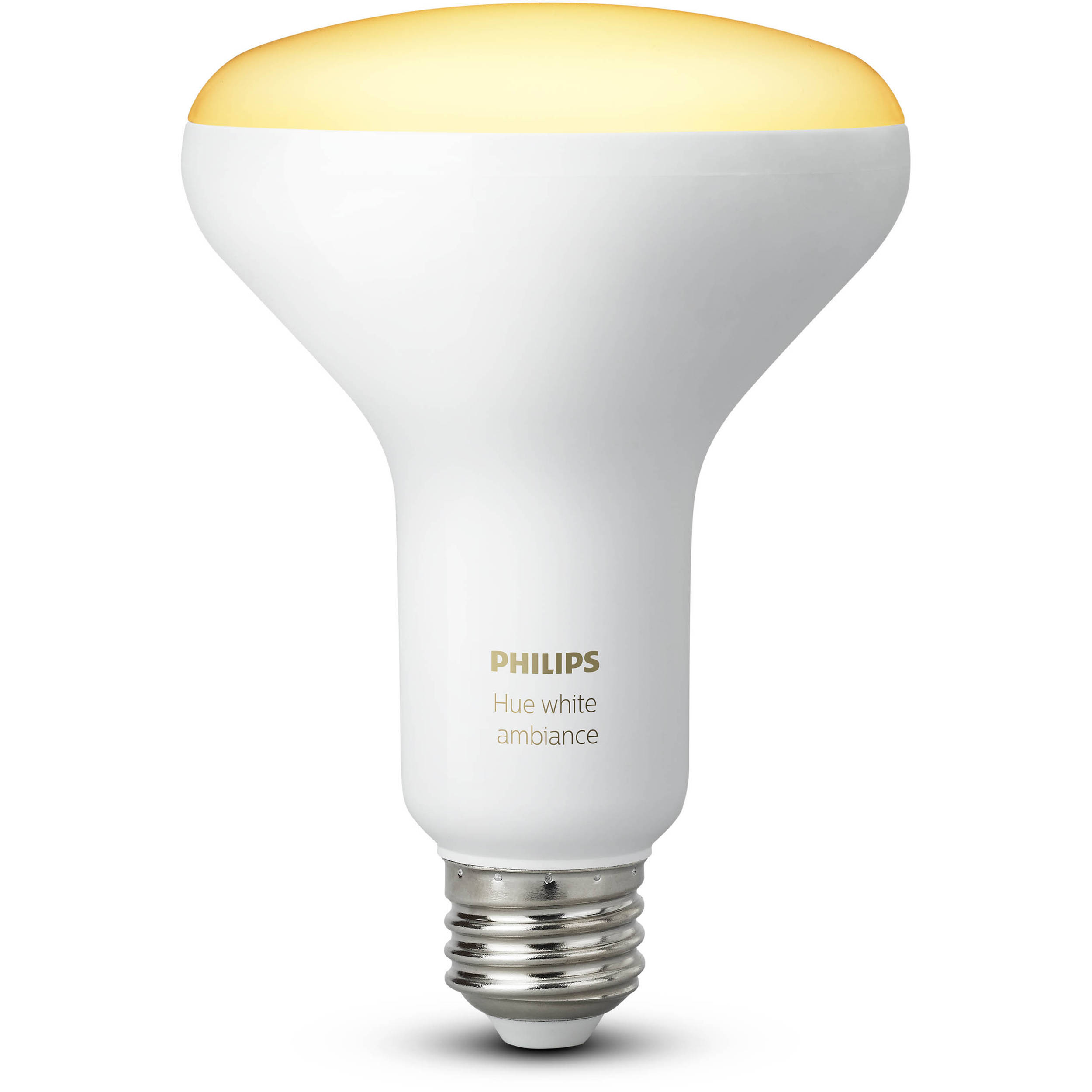 philips hue br30 single bulb white ambiance 2 pack 466508 b h. Black Bedroom Furniture Sets. Home Design Ideas