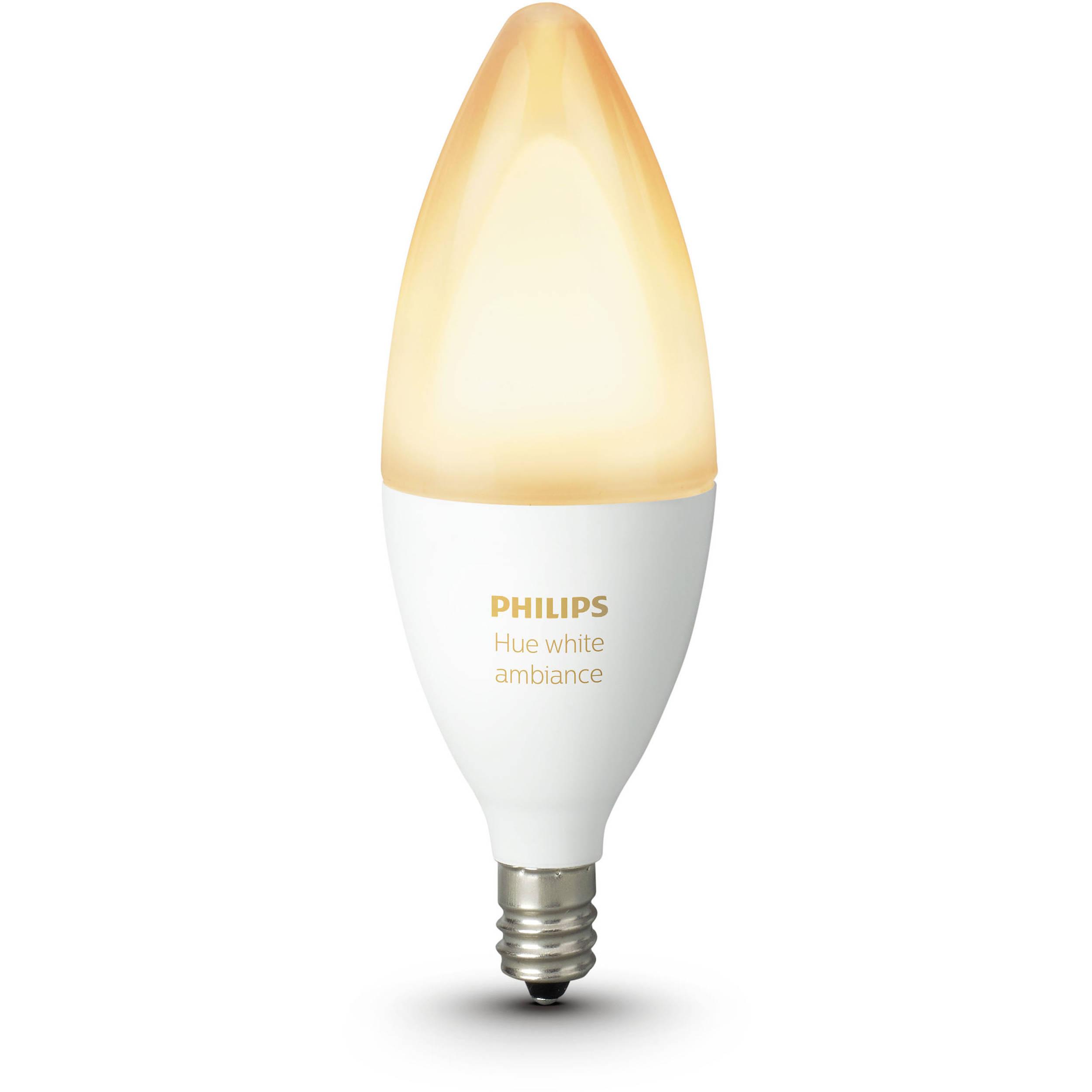 philips hue e12 single bulb white ambiance 468926 b h photo. Black Bedroom Furniture Sets. Home Design Ideas